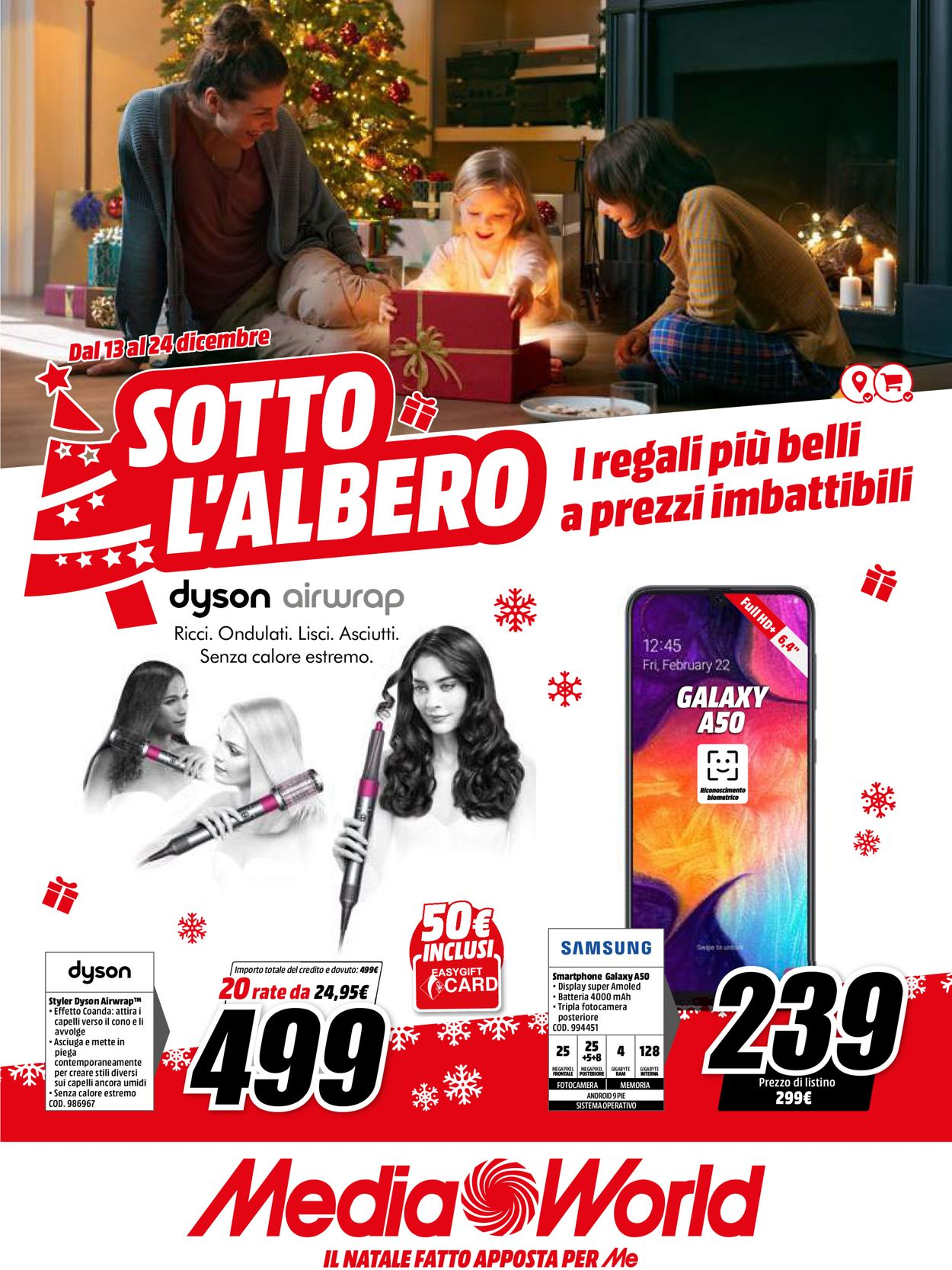 Volantino Il volantino natalizio di Media World - Offerte 13/12-24/12/2019