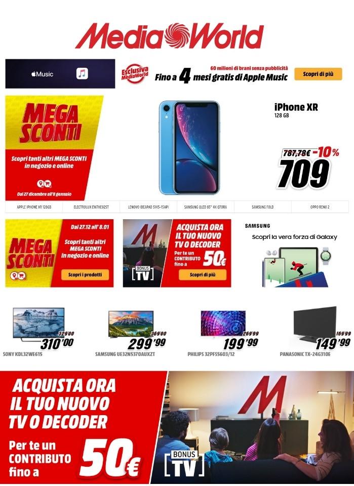 Volantino Media World - Offerte 30/12-09/01/2020