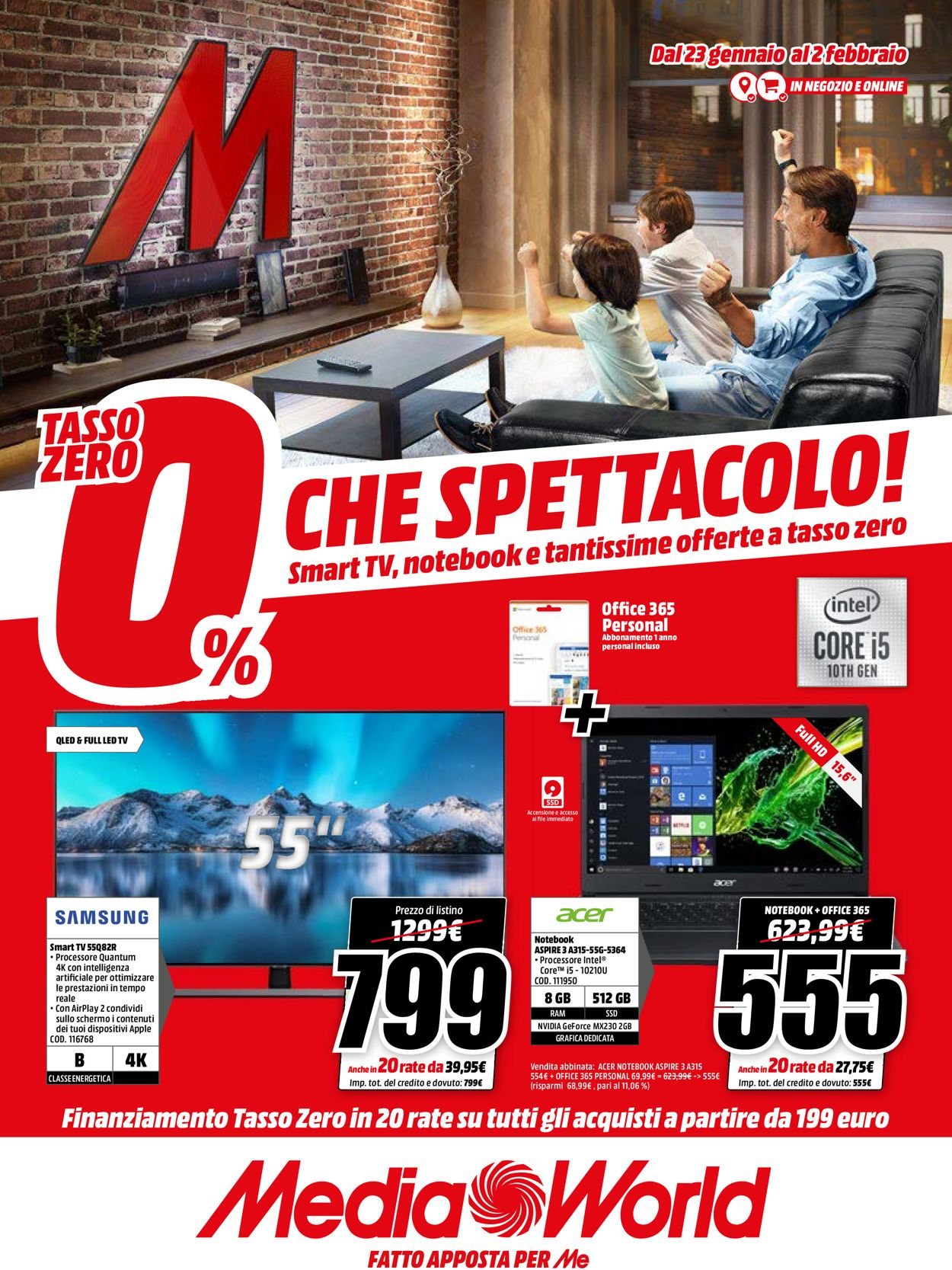 Volantino Media World - Offerte 23/01-02/02/2020