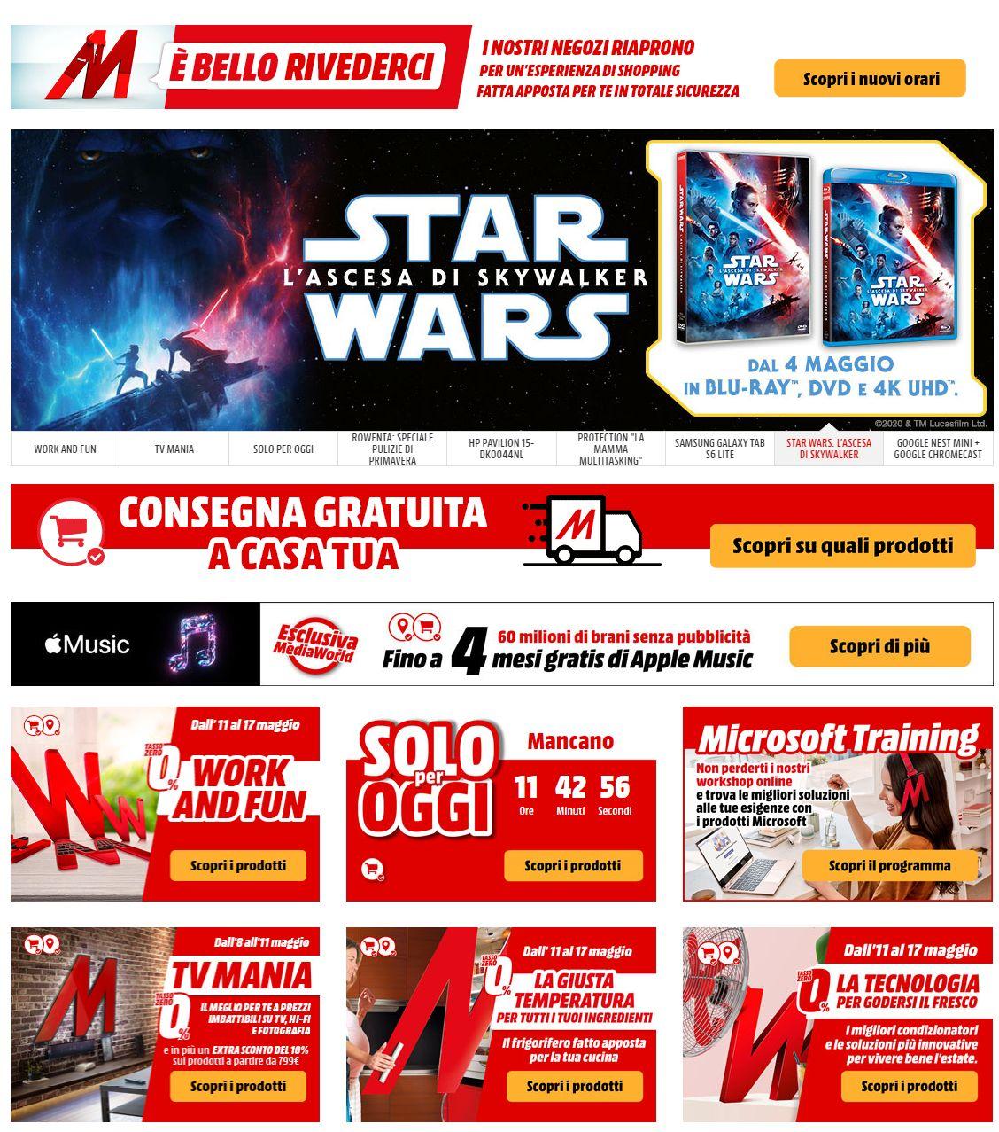 Volantino Media World - Offerte 12/05-18/05/2020