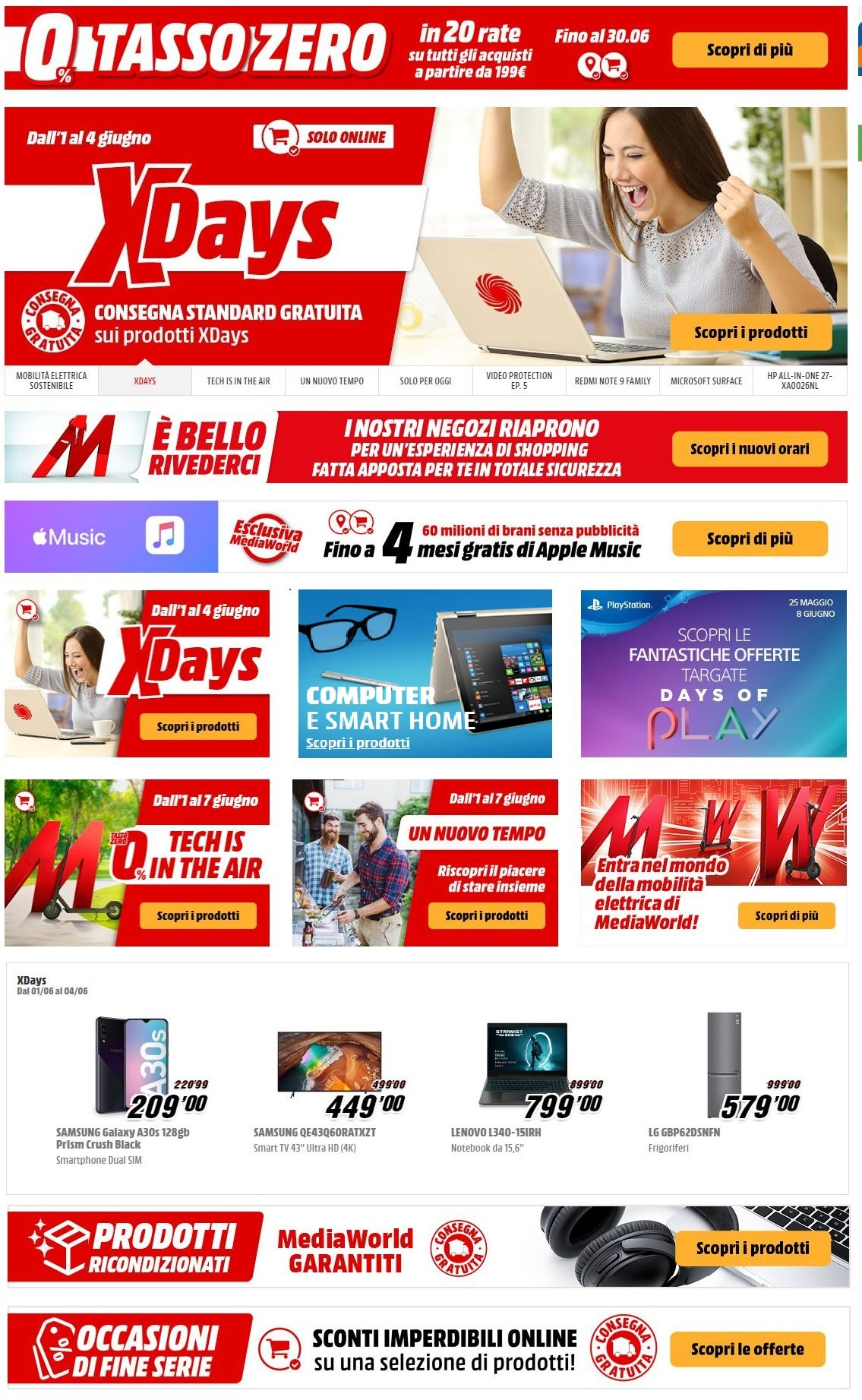 Volantino Media World - Offerte 01/06-08/06/2020