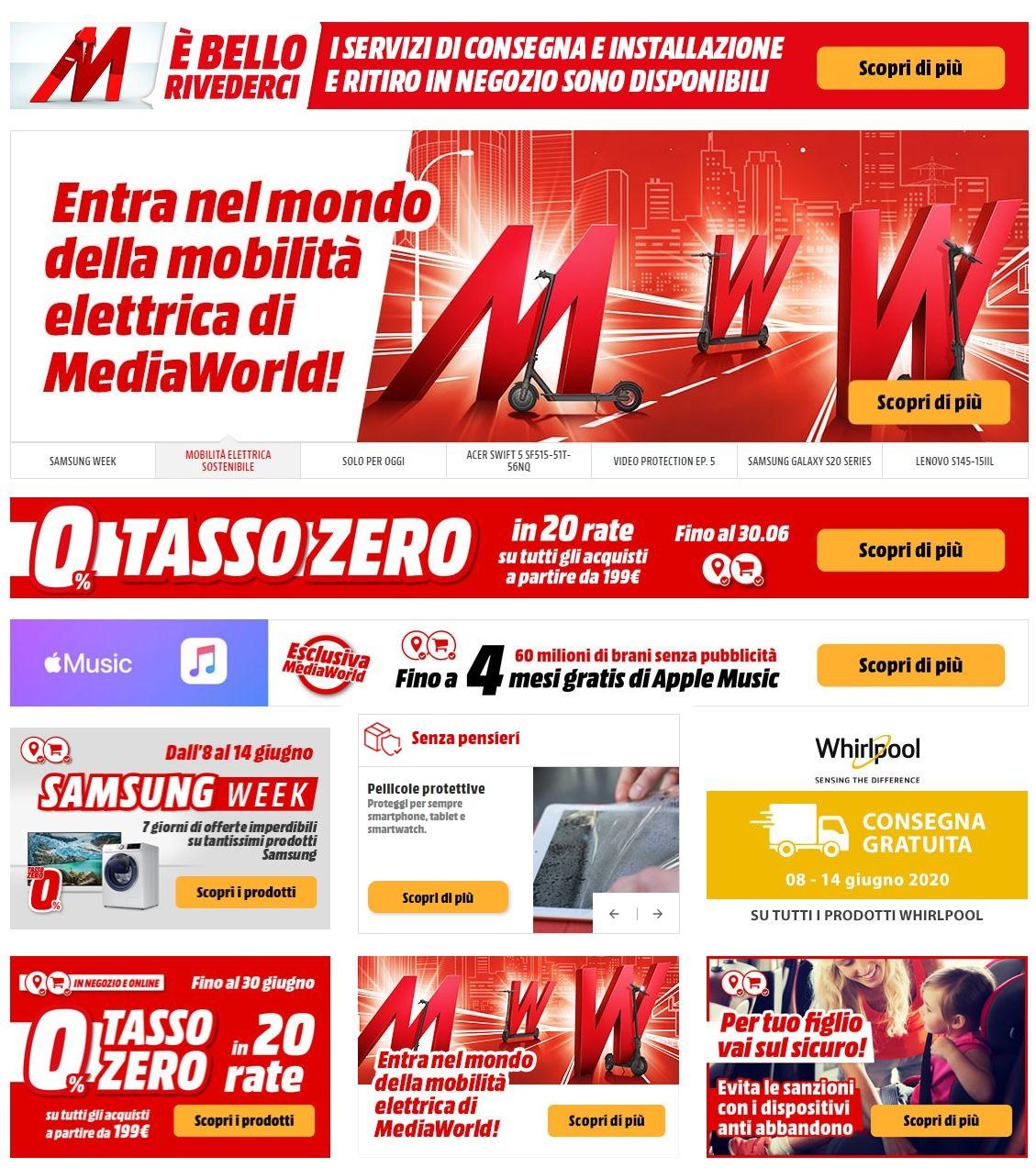 Volantino Media World - Offerte 08/06-15/06/2020