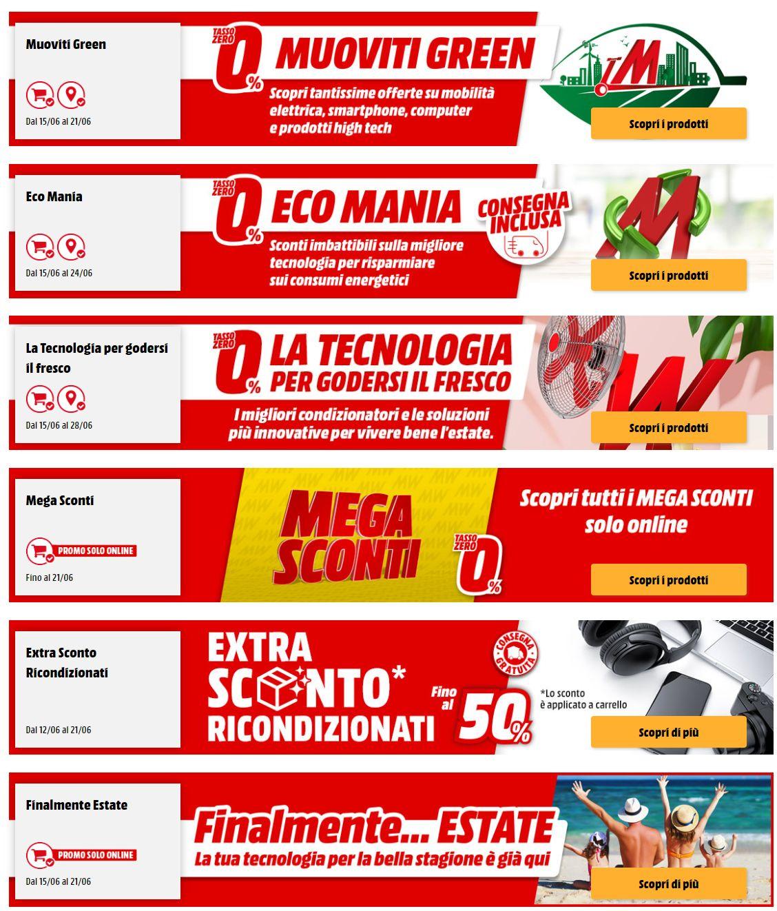 Volantino Media World - Offerte 15/06-22/06/2020