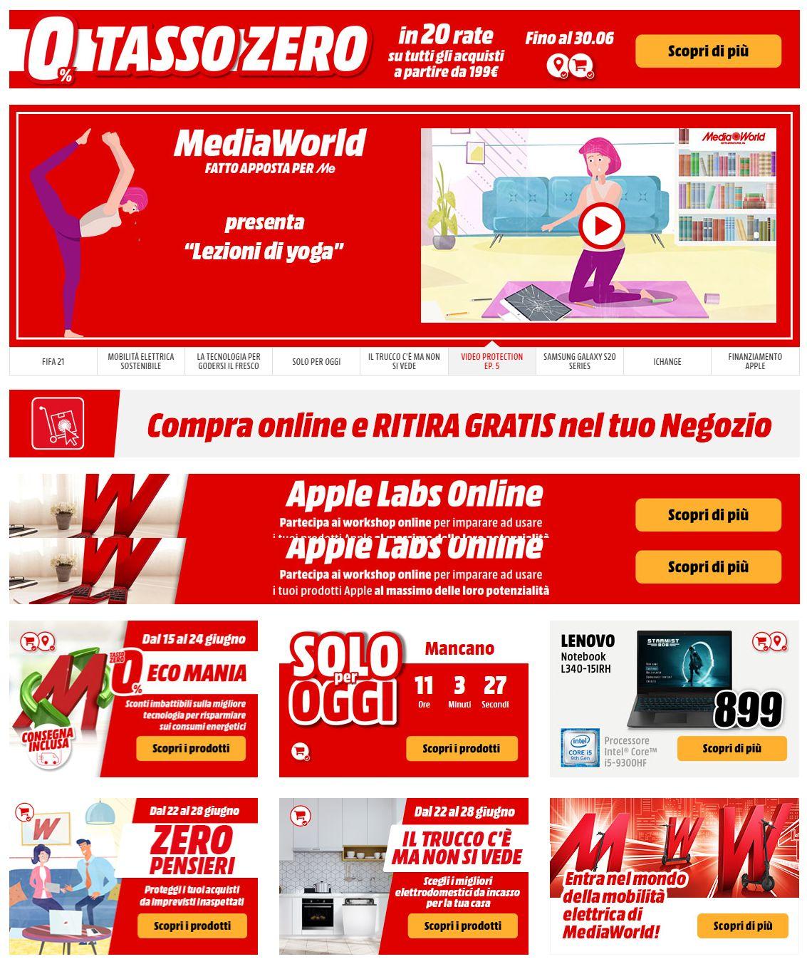 Volantino Media World - Offerte 22/06-29/06/2020