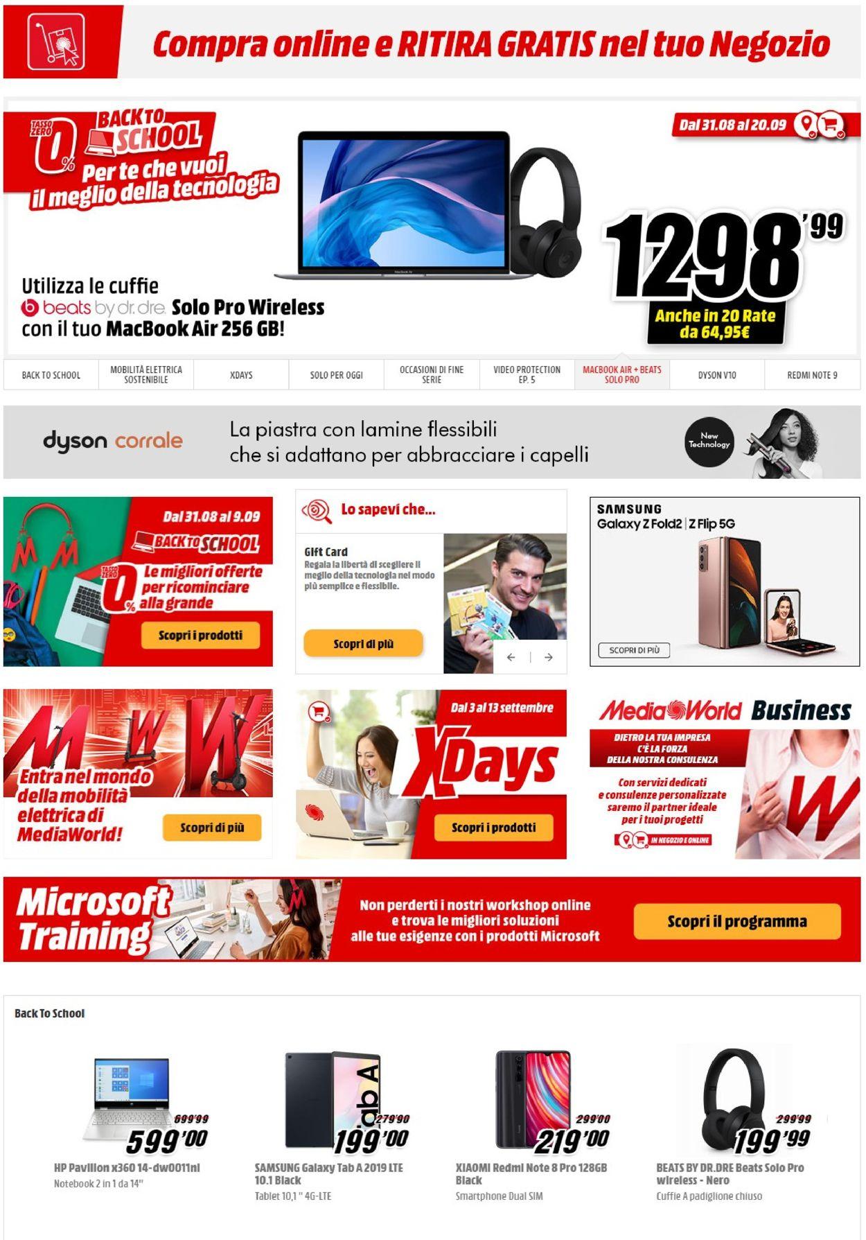 Volantino Media World - Offerte 08/09-14/09/2020