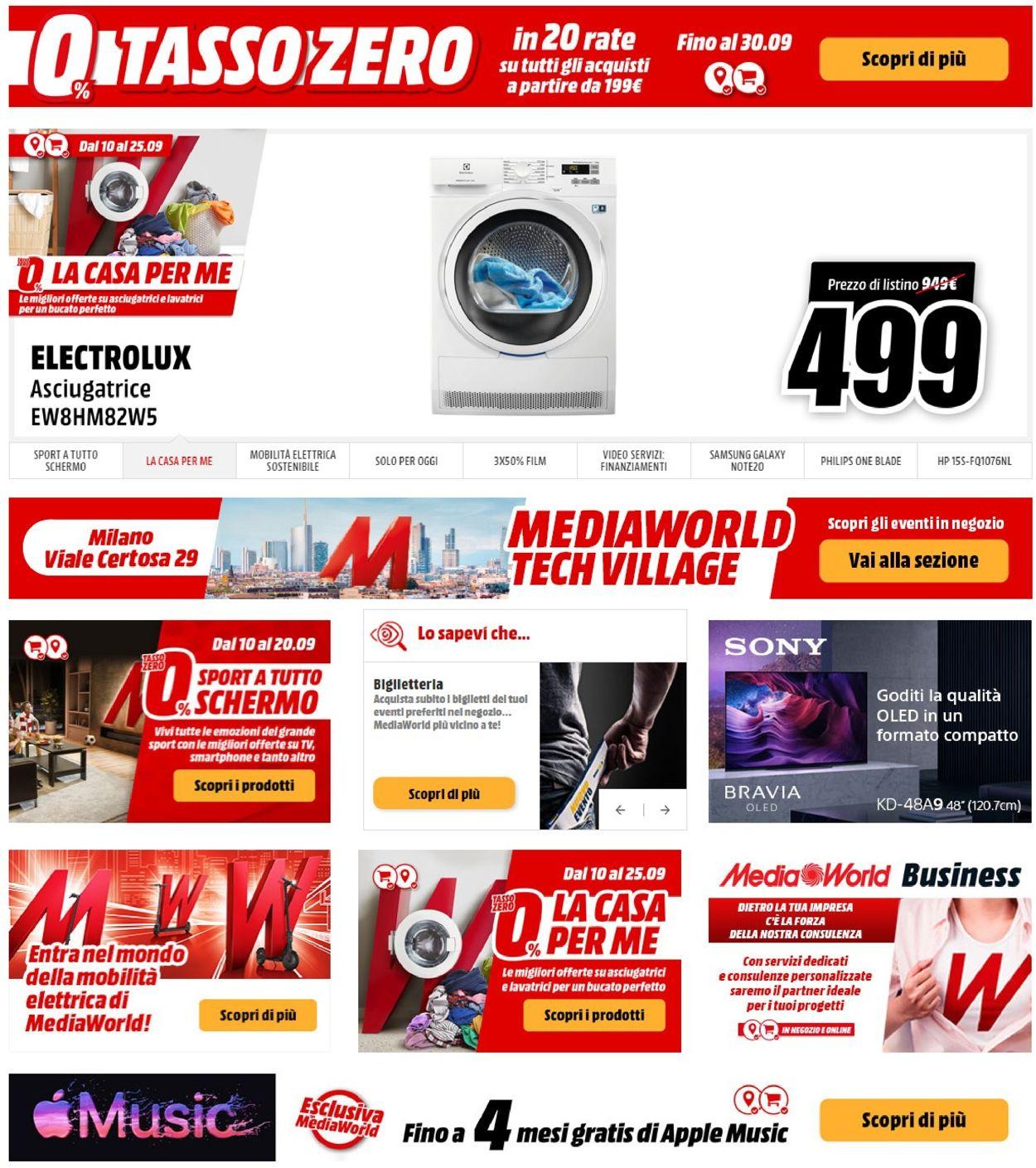 Volantino Media World - Offerte 15/09-21/09/2020