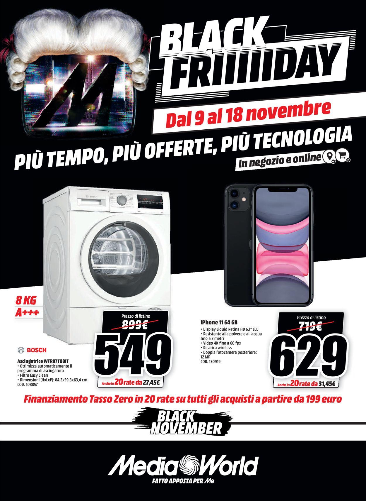 Volantino Media World - Black Friday 2020 - Offerte 09/11-18/11/2020