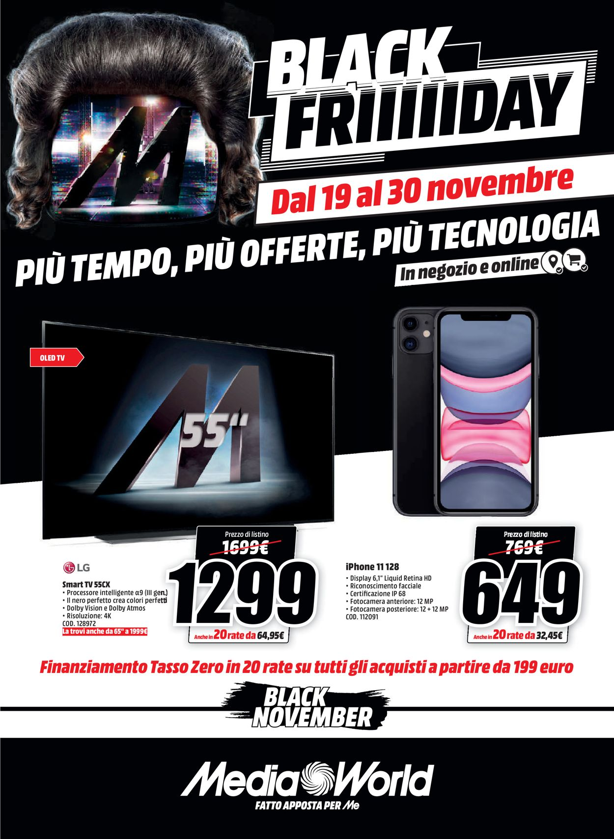 Volantino Media World - Black Friday 2020 - Offerte 19/11-30/11/2020