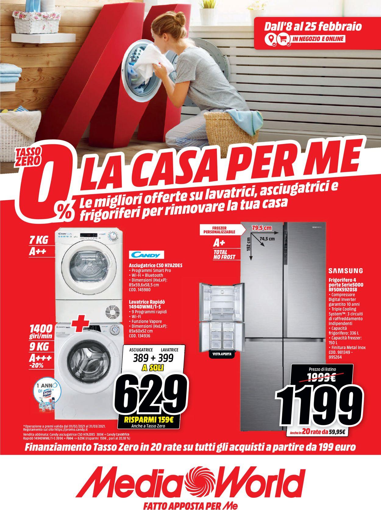 Volantino Media World - Offerte 08/02-25/02/2021