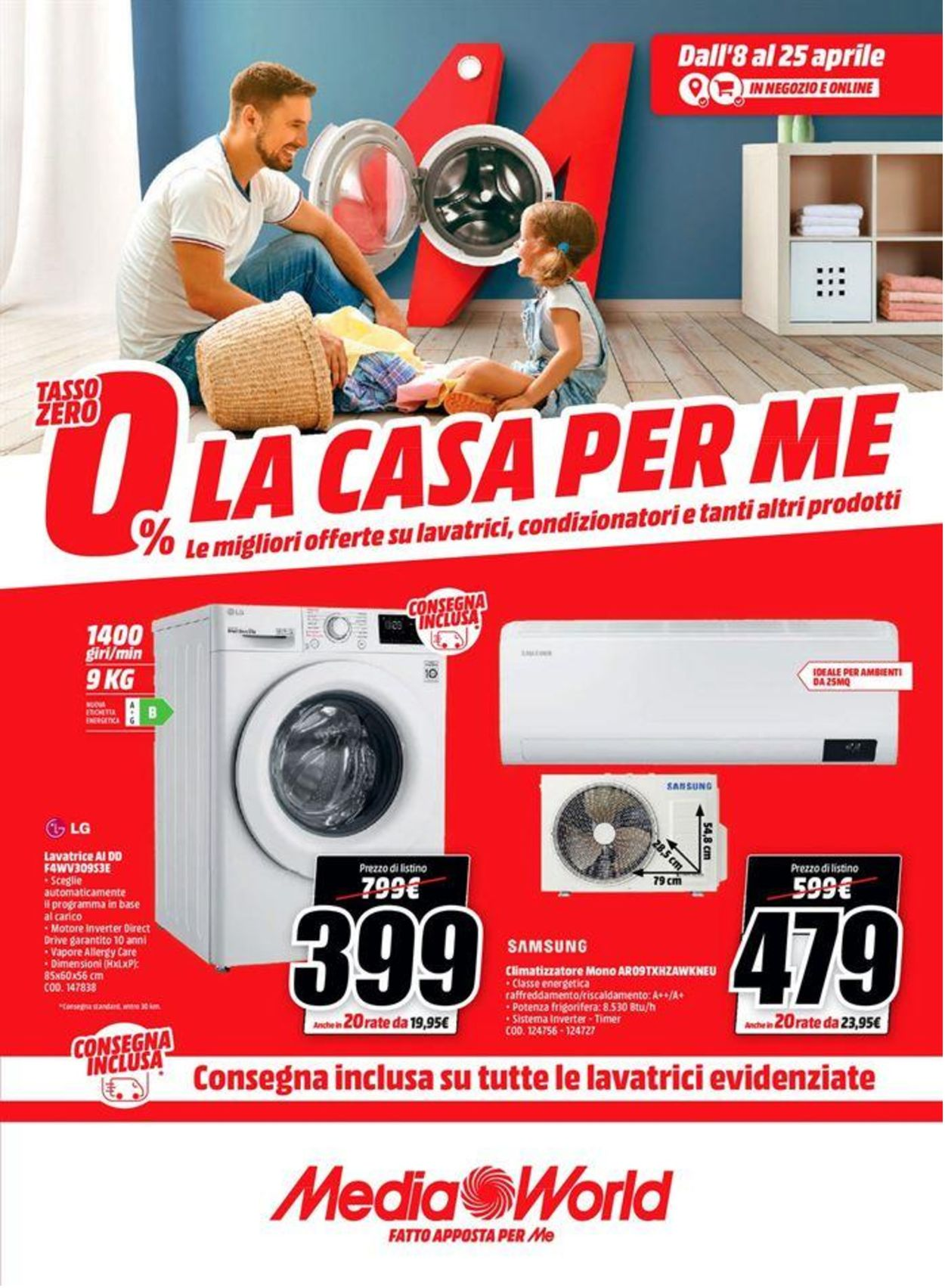 Volantino Media World - Offerte 08/04-25/04/2021