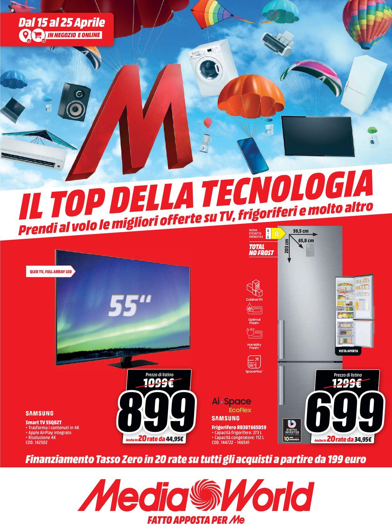 Volantino Media World - Offerte 15/04-25/04/2021