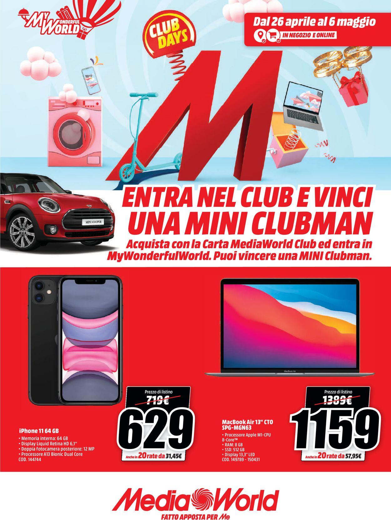 Volantino Media World - Offerte 26/04-06/05/2021