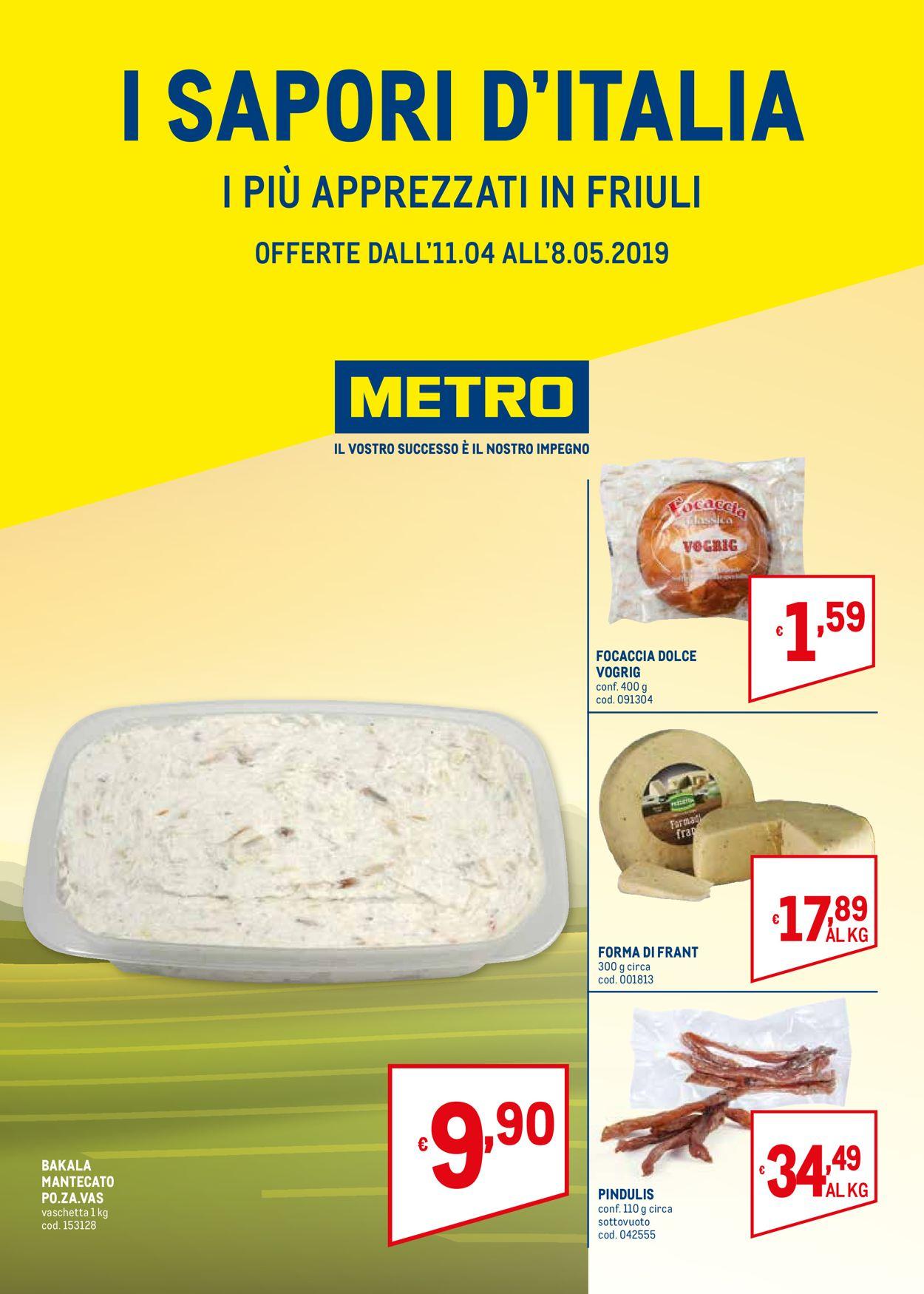 Volantino Metro - Offerte 11/04-08/05/2019