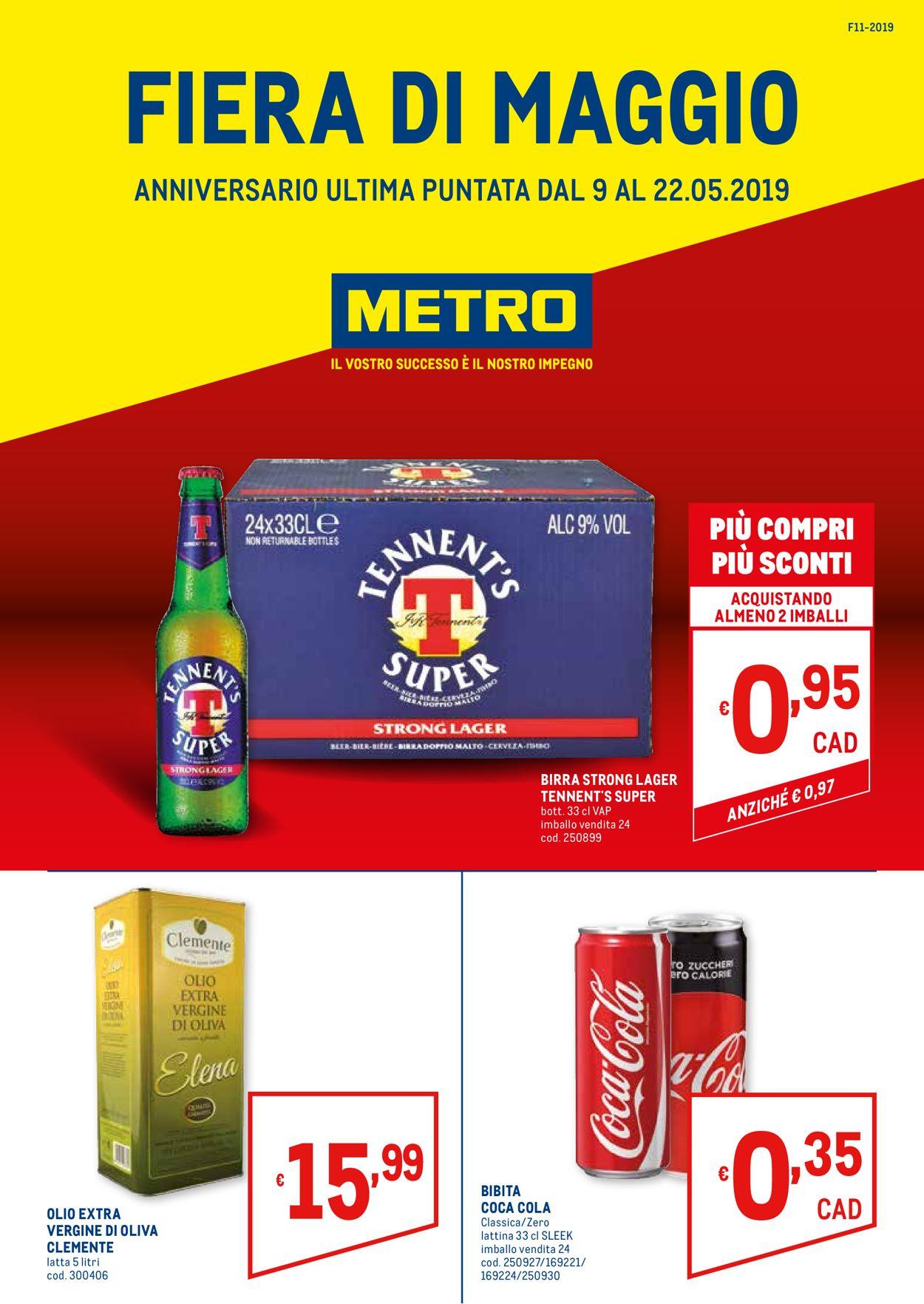 Volantino Metro - Offerte 09/05-22/05/2019