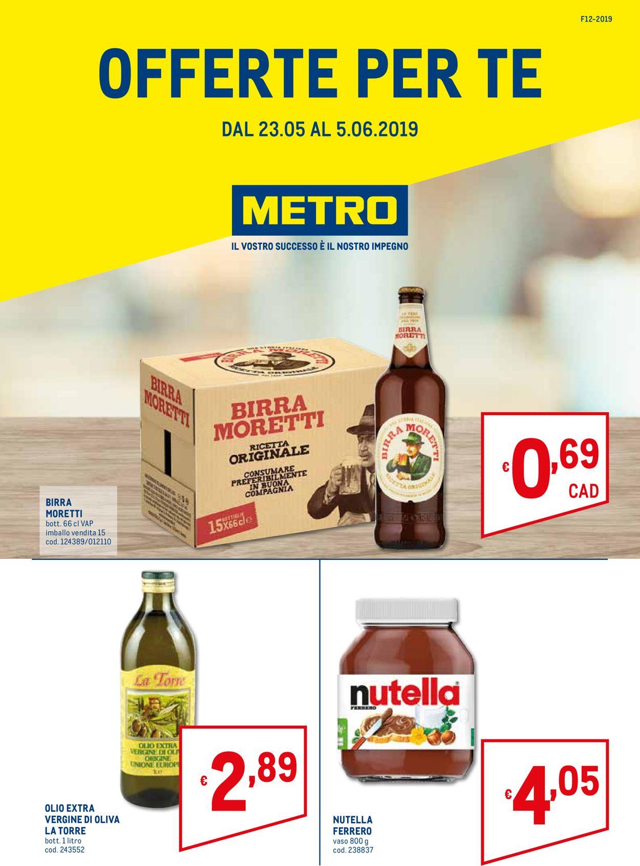 Volantino Metro - Offerte 23/05-05/06/2019