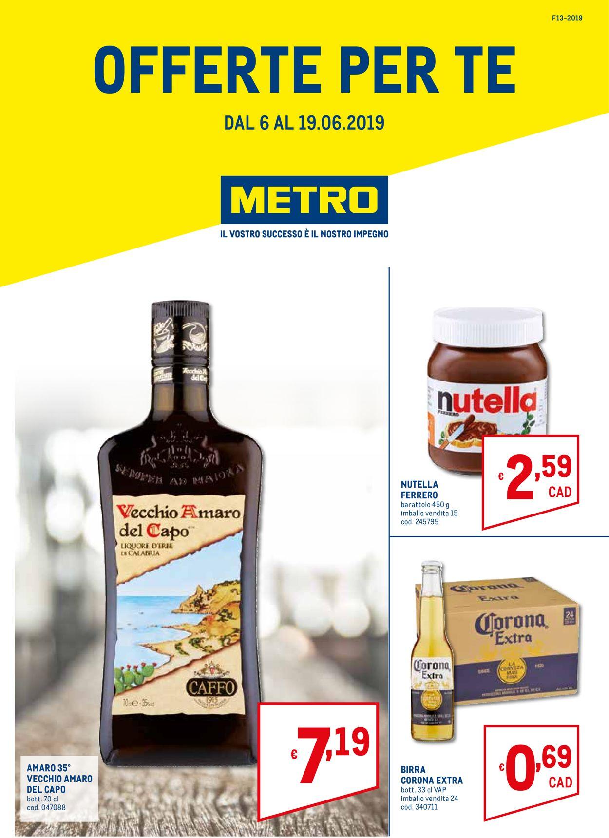 Volantino Metro - Offerte 06/06-19/06/2019