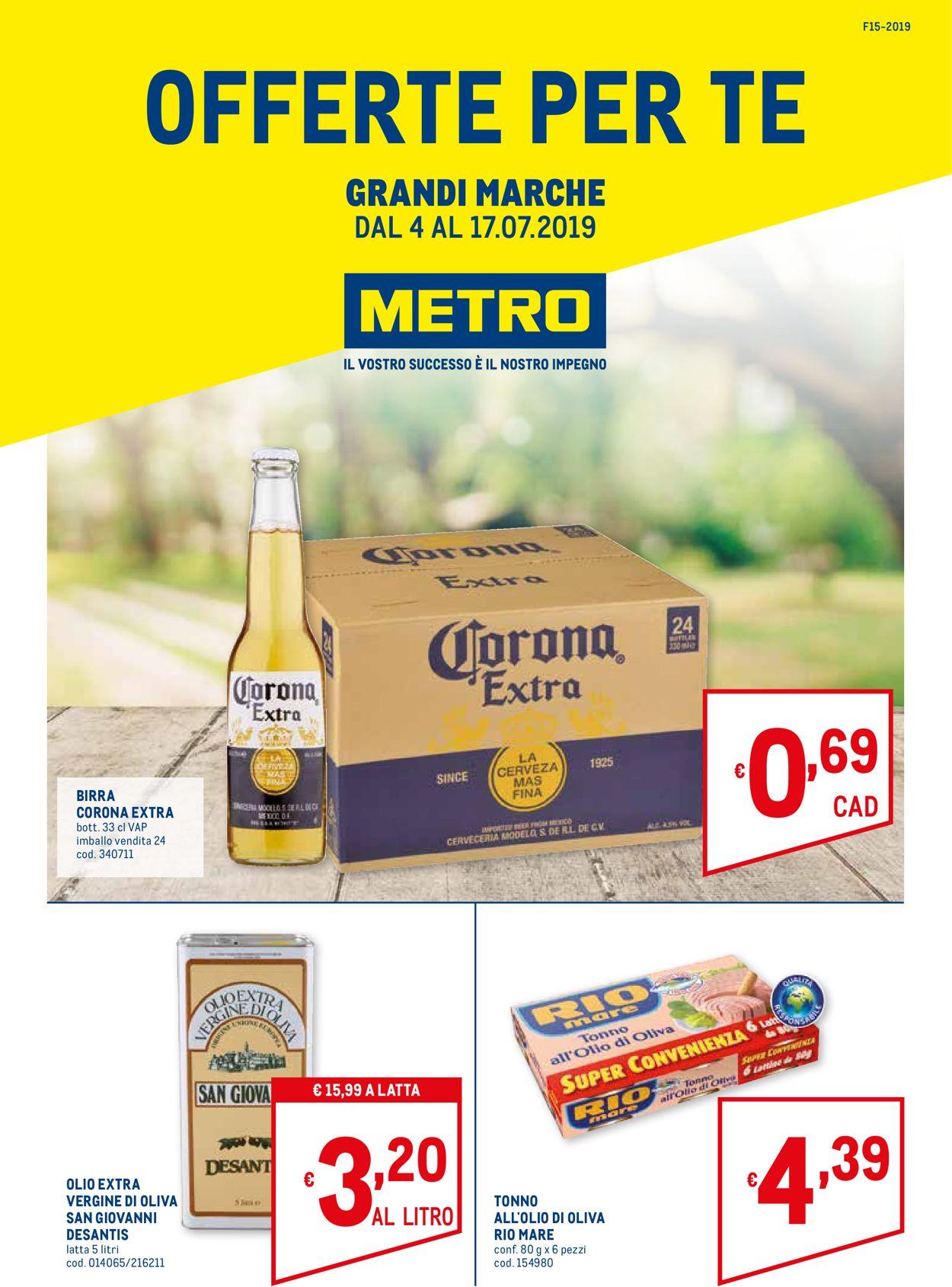 Volantino Metro - Offerte 04/07-17/07/2019