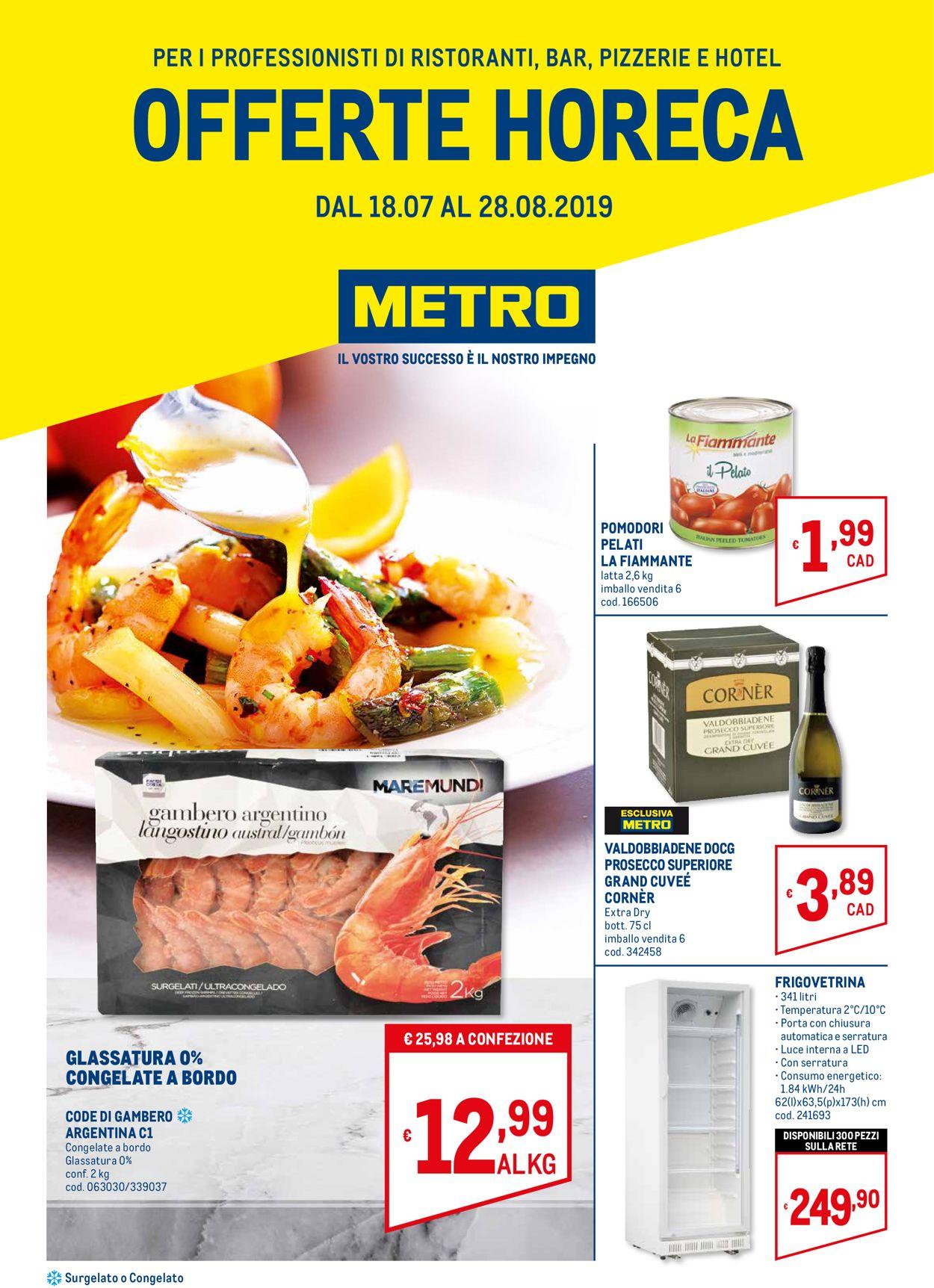 Volantino Metro - Offerte 18/07-28/08/2019