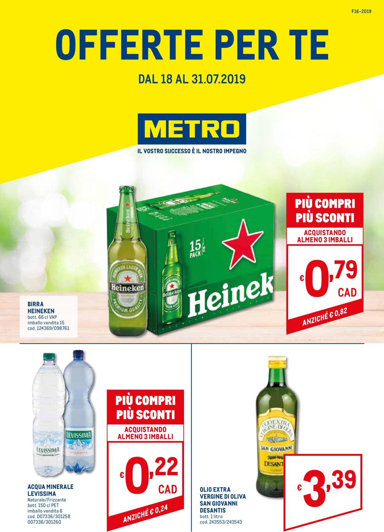 Volantino Metro - Offerte 18/07-31/07/2019