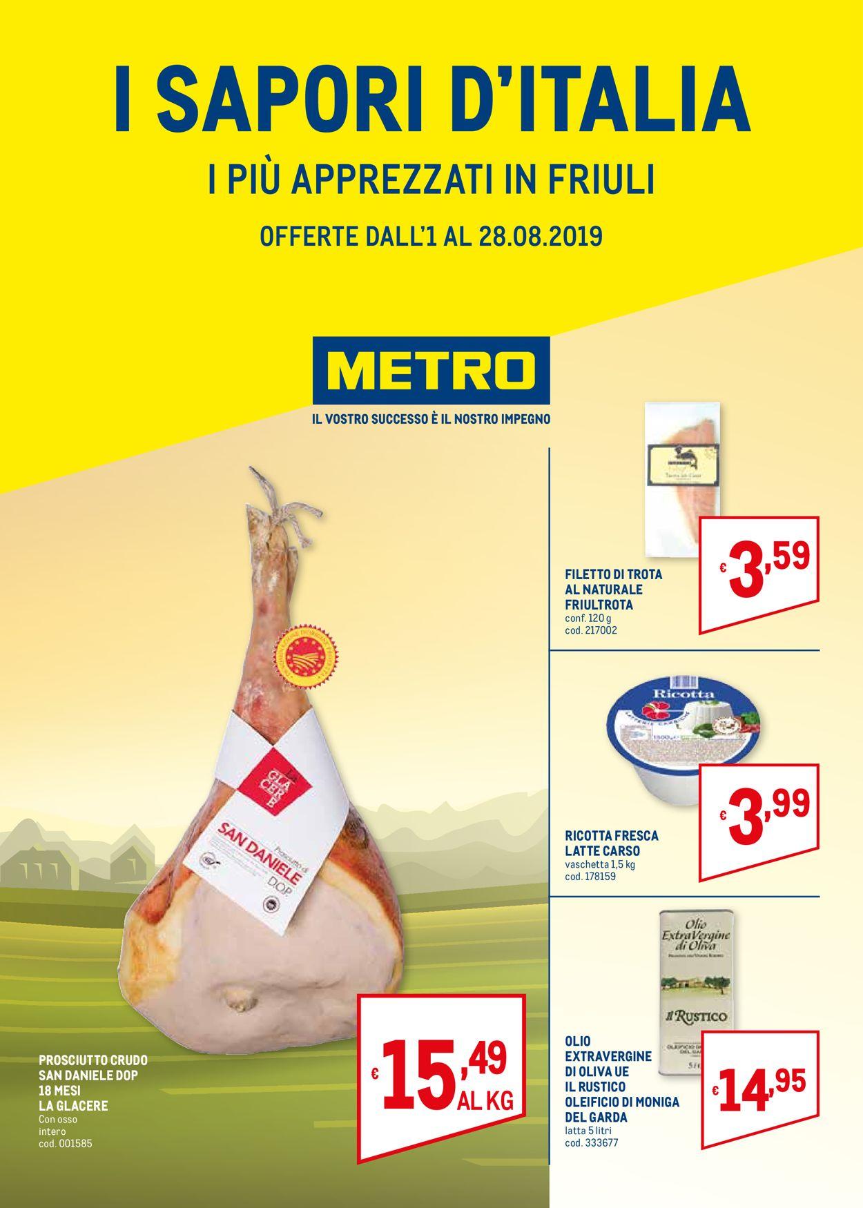 Volantino Metro - Offerte 01/08-28/08/2019
