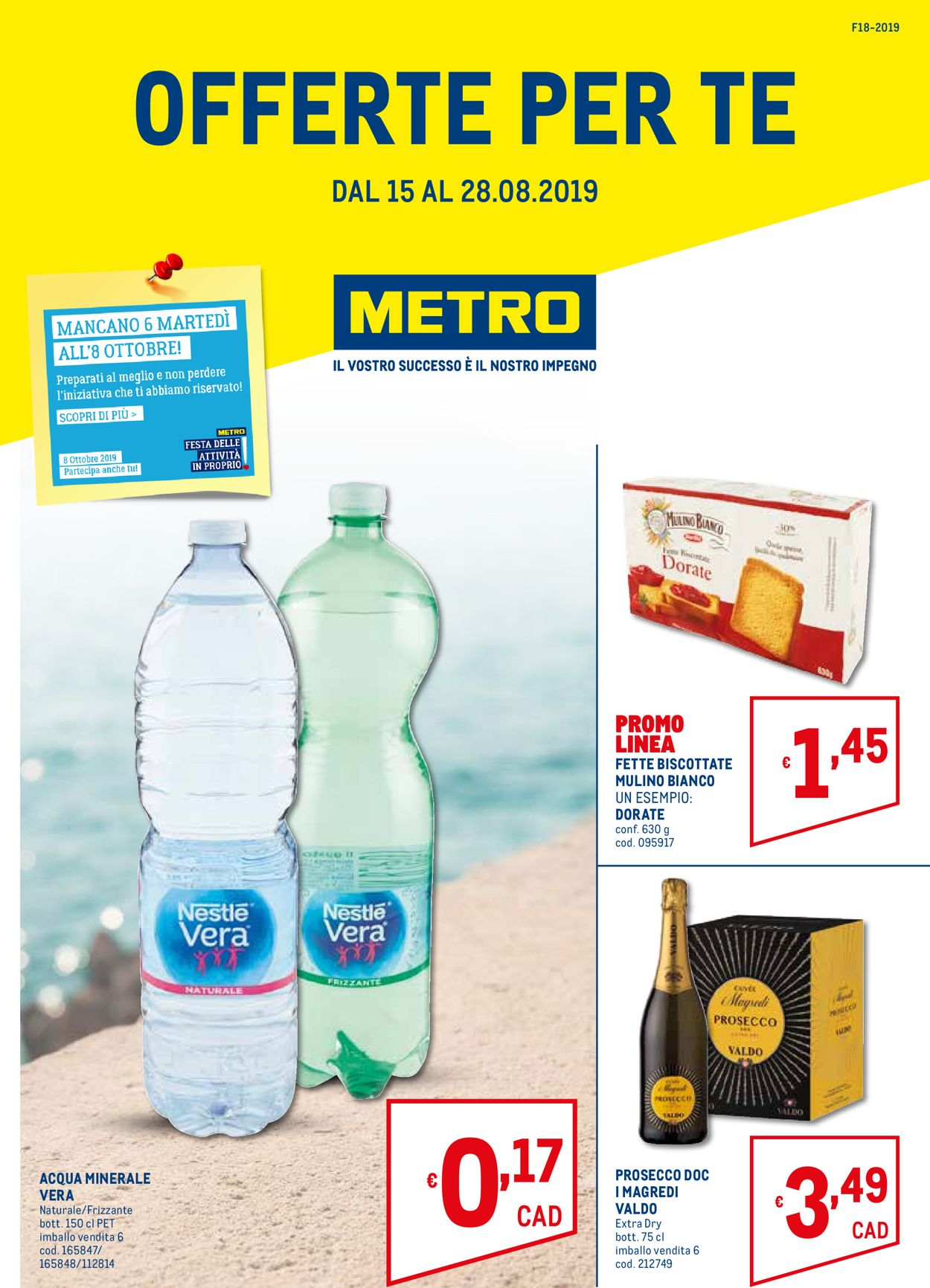Volantino Metro - Offerte 15/08-28/08/2019