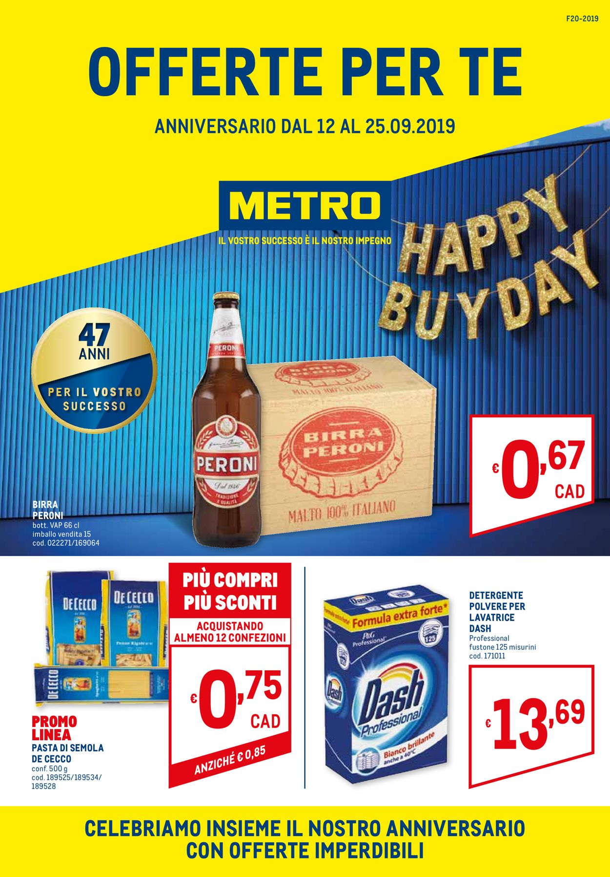 Volantino Metro - Offerte 12/09-25/09/2019