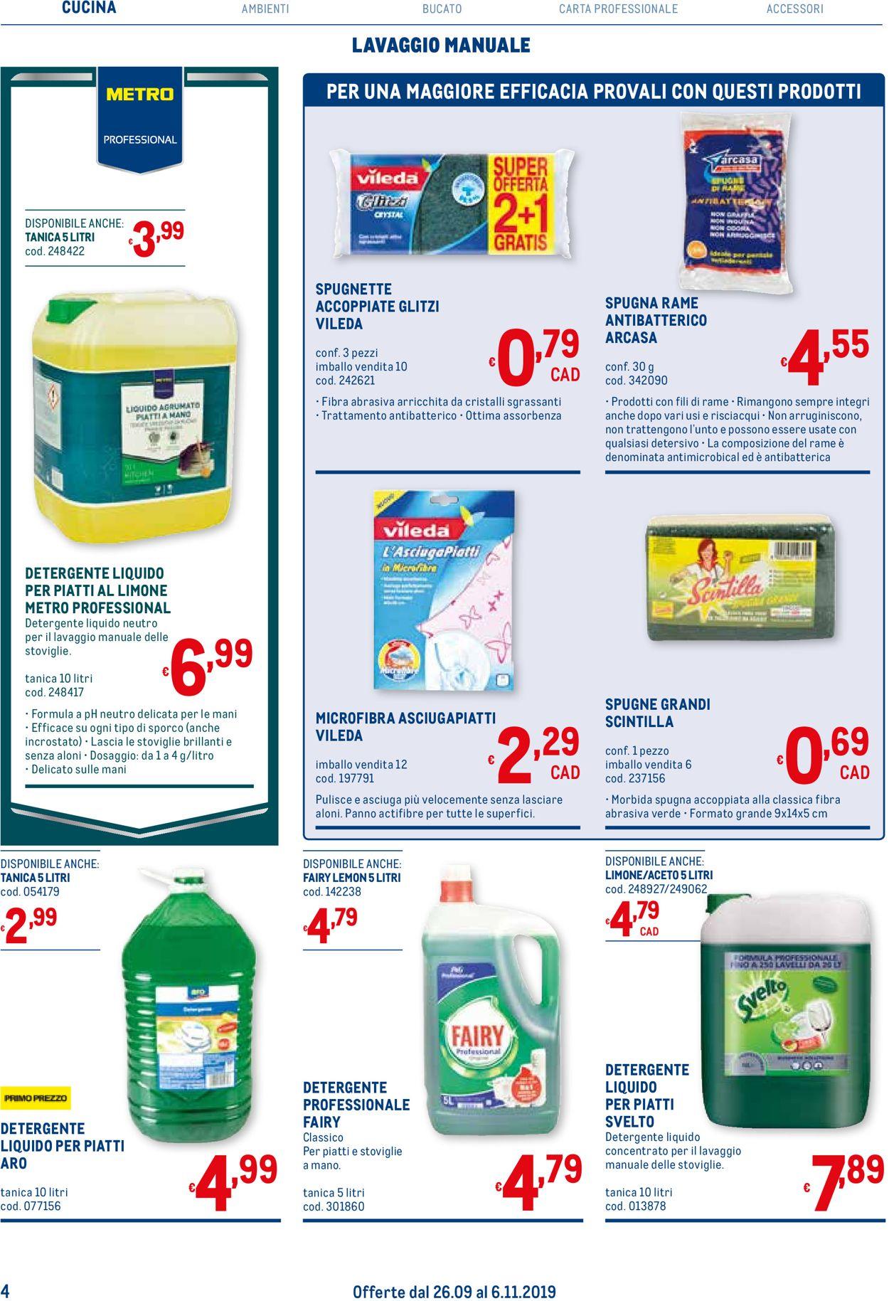 Volantino Metro - Offerte 26/09-06/11/2019 (Pagina 4)
