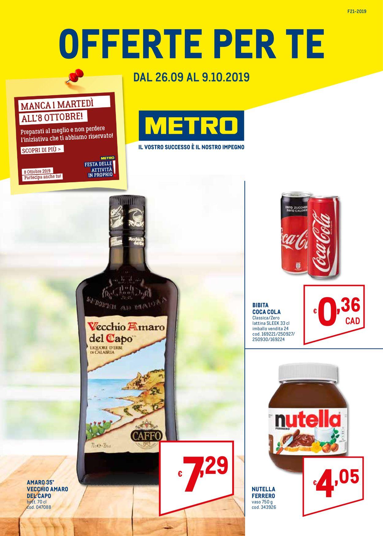 Volantino Metro - Offerte 26/09-09/10/2019