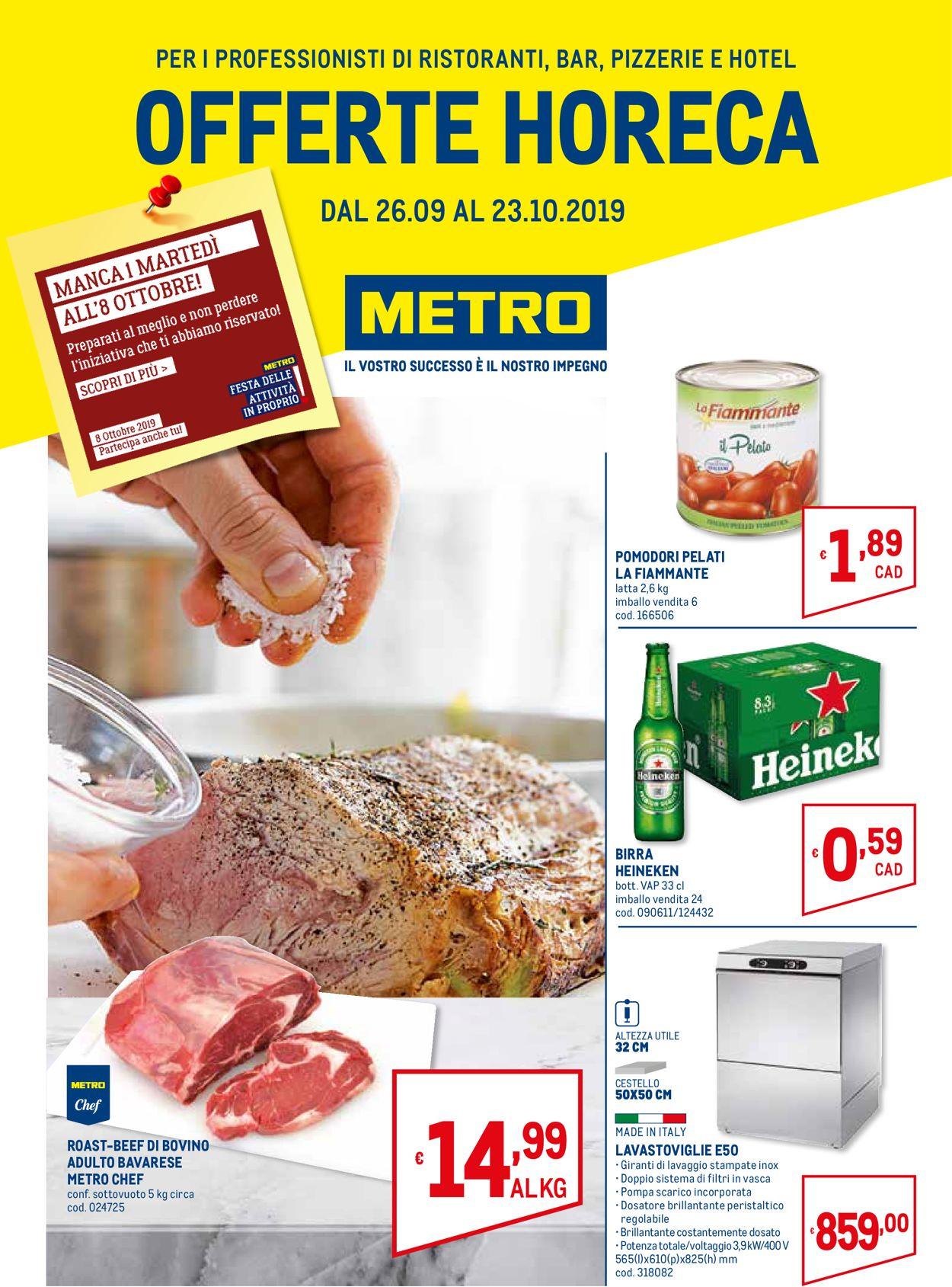 Volantino Metro - Offerte 26/09-23/10/2019