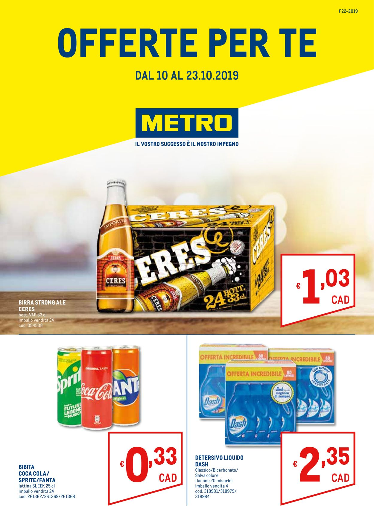 Volantino Metro - Offerte 10/10-23/10/2019
