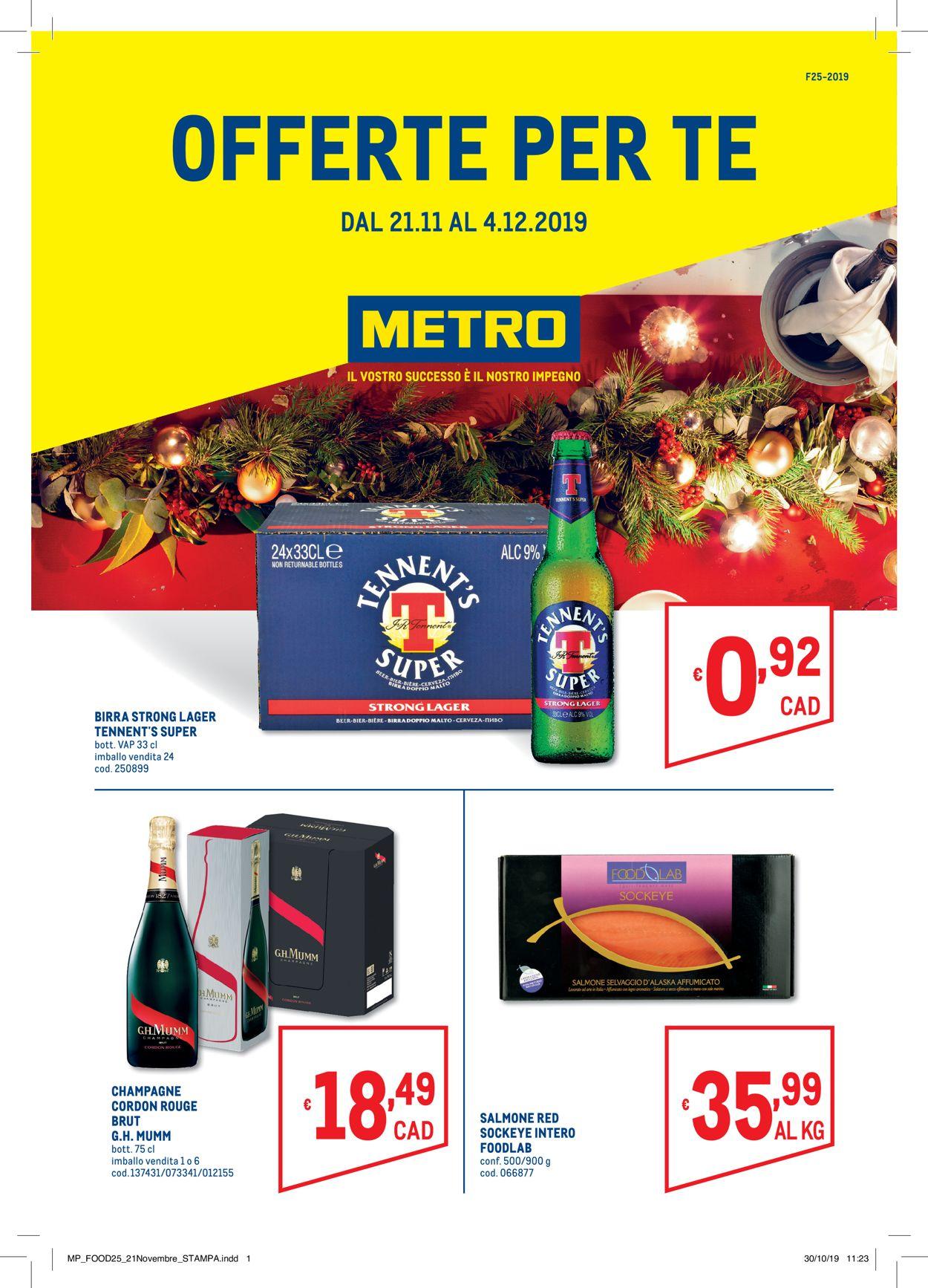 Volantino Il volantino natalizio di Metro - Offerte 21/11-04/12/2019