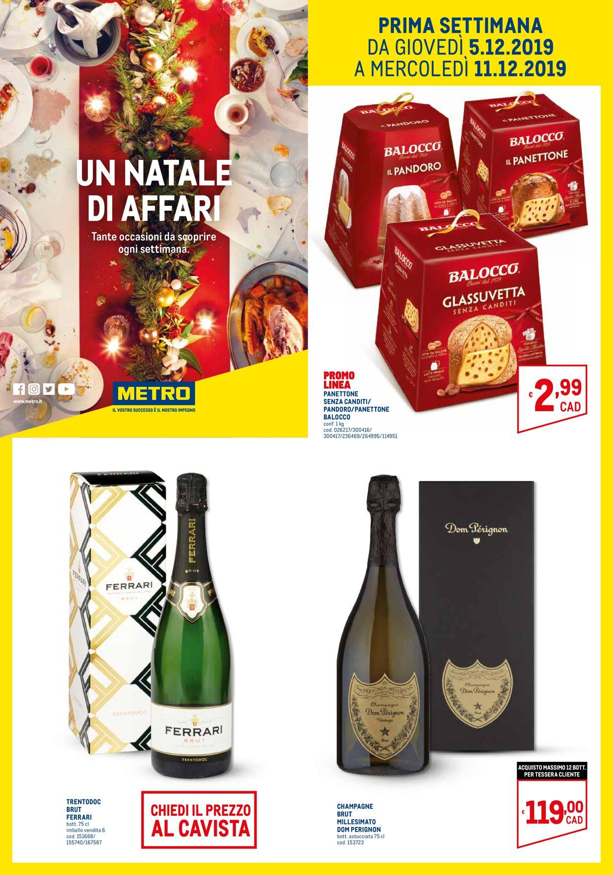 Volantino Il volantino natalizio di Metro - Offerte 05/12-24/12/2019