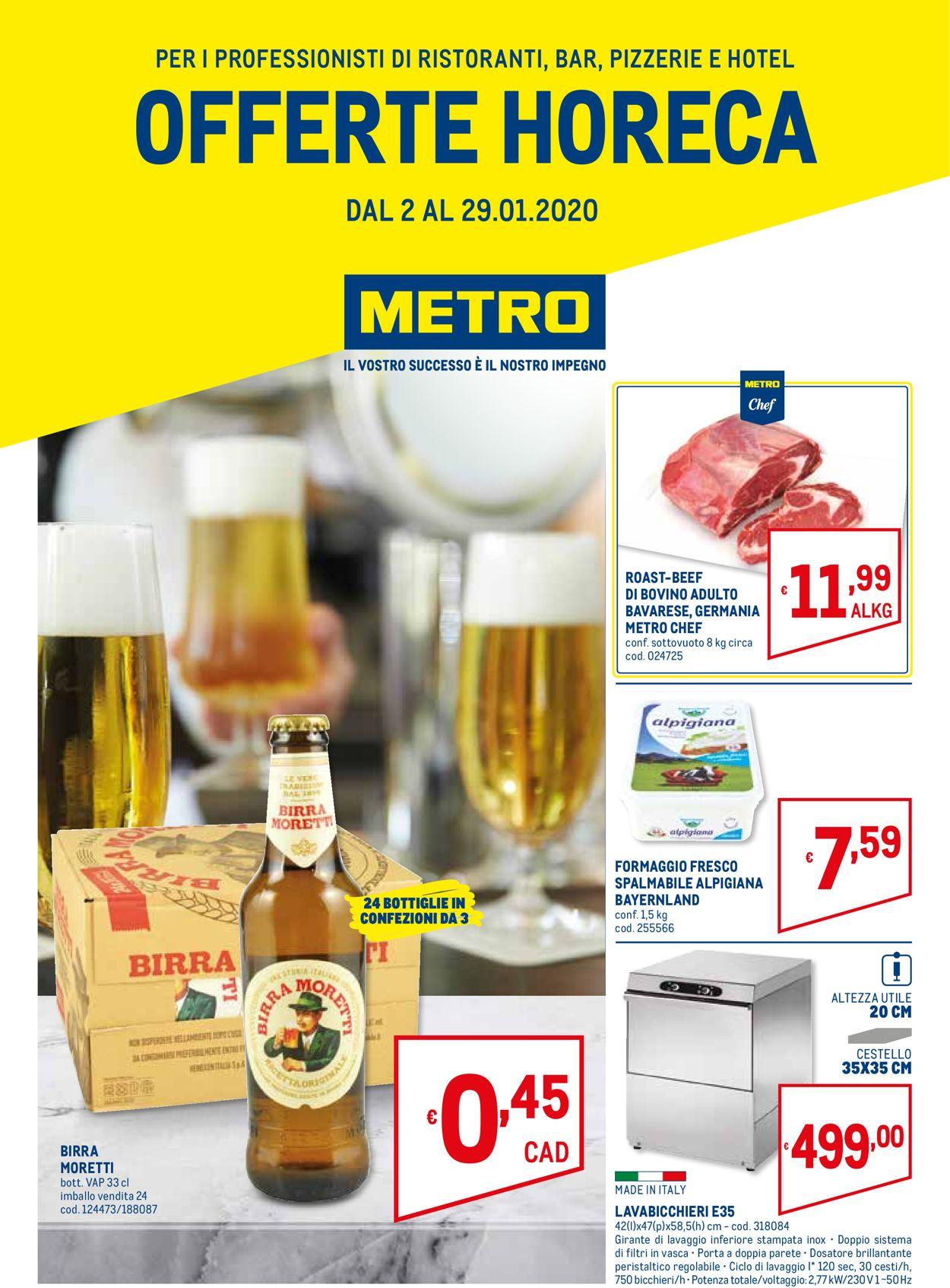 Volantino Metro - Offerte 02/01-29/01/2020
