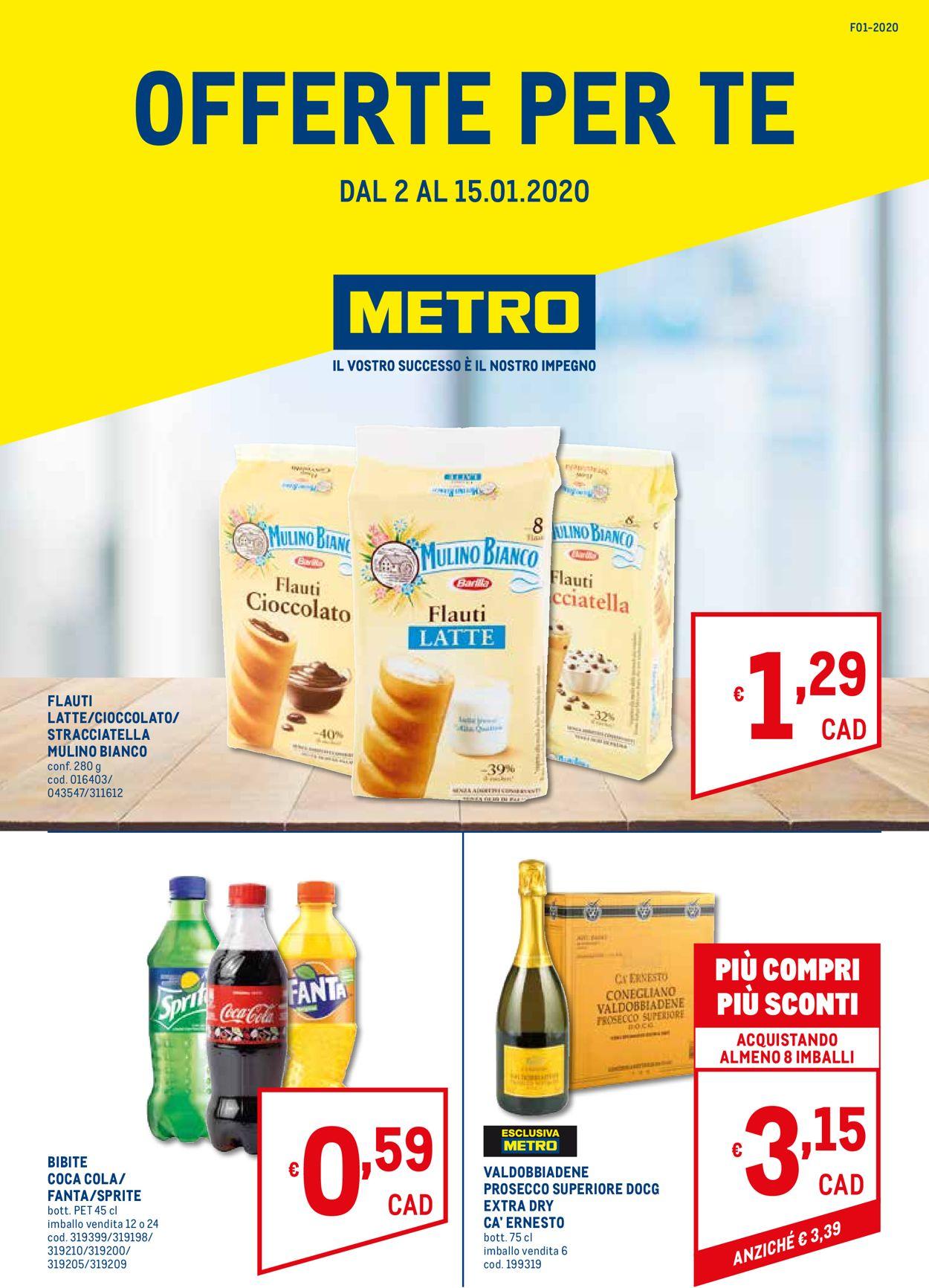 Volantino Metro - Offerte 02/01-15/01/2020