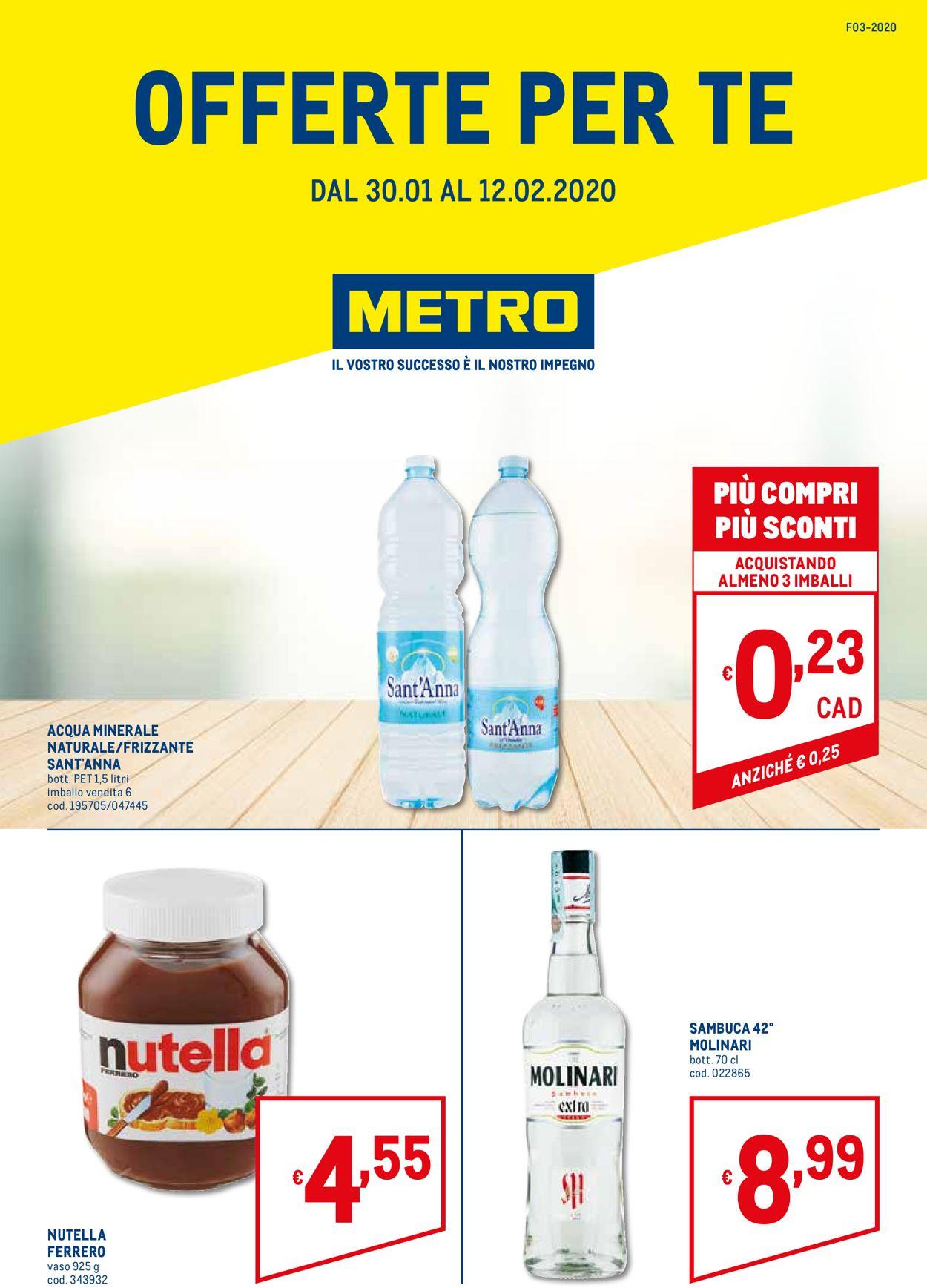 Volantino Metro - Offerte 30/01-12/02/2020