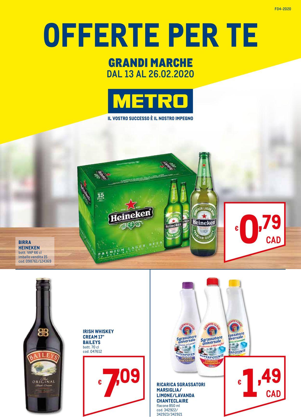 Volantino Metro - Offerte 13/02-26/02/2020