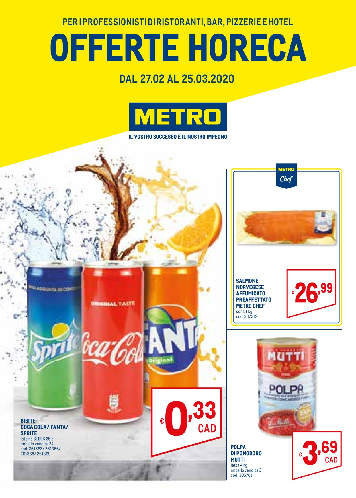 Volantino Metro - Offerte 27/02-25/03/2020