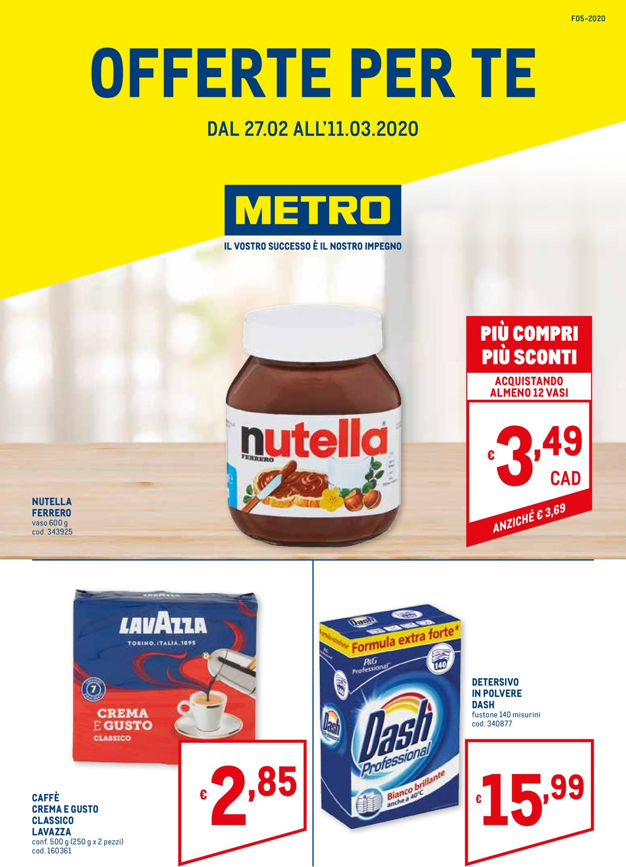 Volantino Metro - Offerte 27/02-11/03/2020