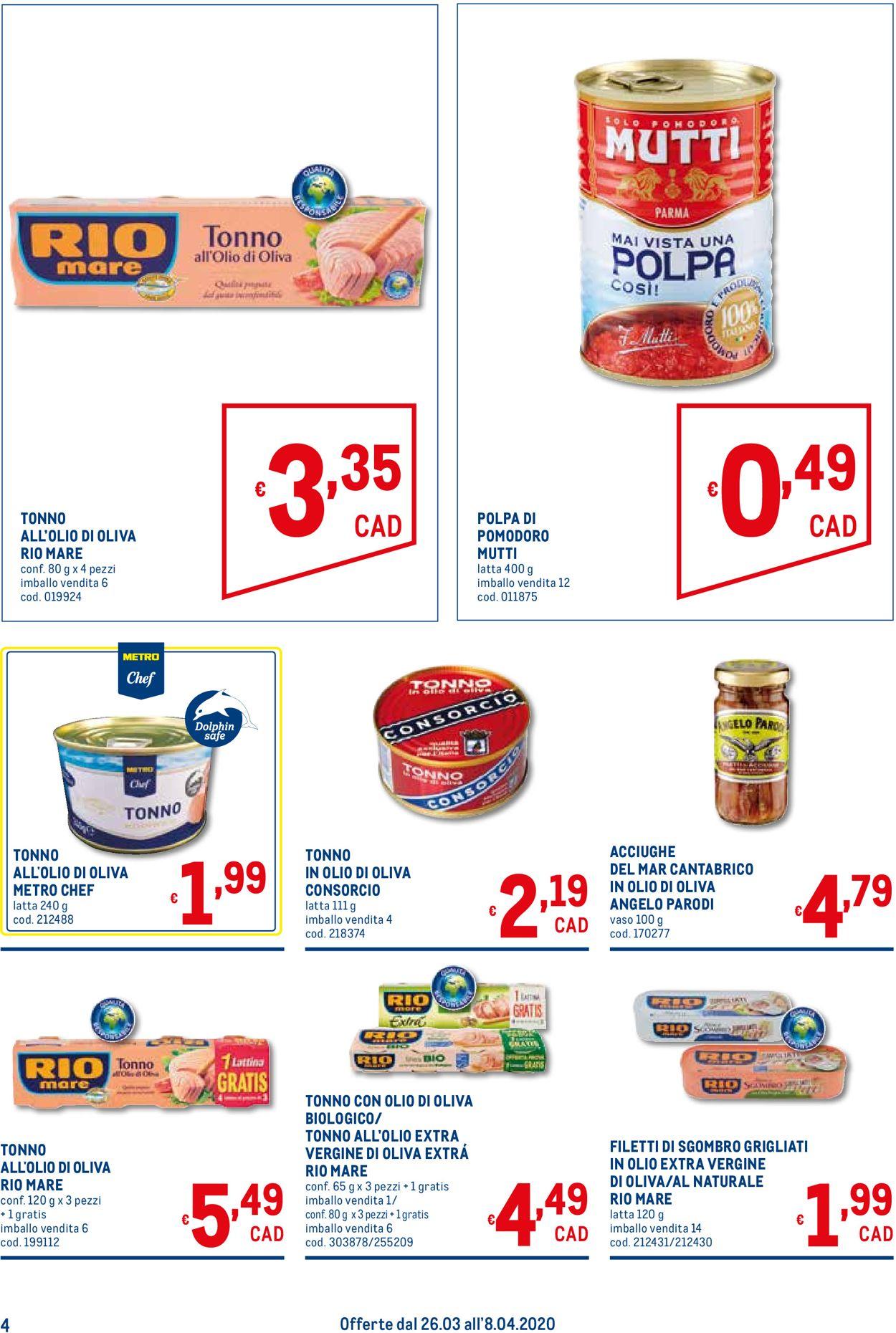 Volantino Metro - Offerte 26/03-08/04/2020 (Pagina 4)