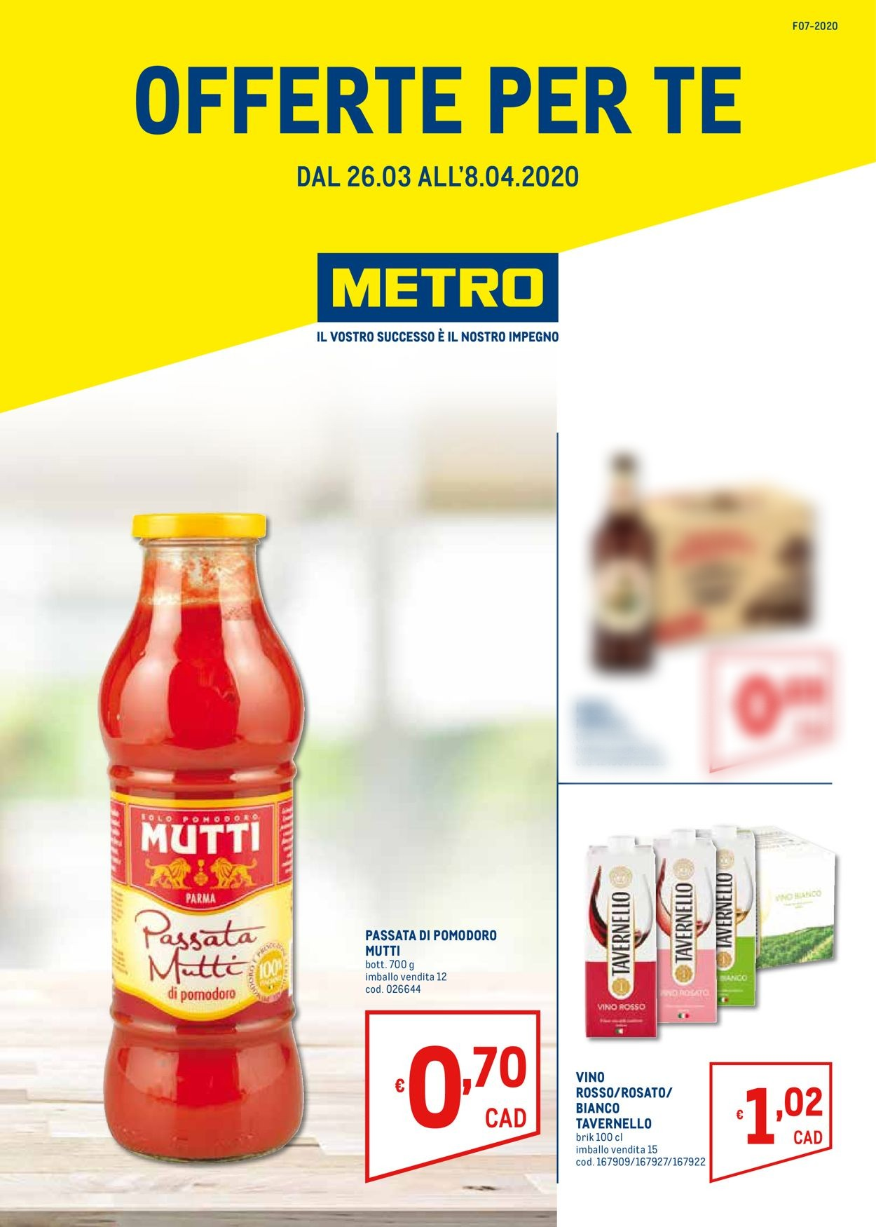 Volantino Metro - Offerte 26/03-08/04/2020
