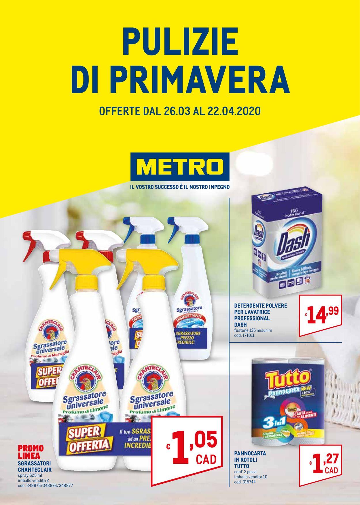 Volantino Metro - Offerte 26/03-22/04/2020