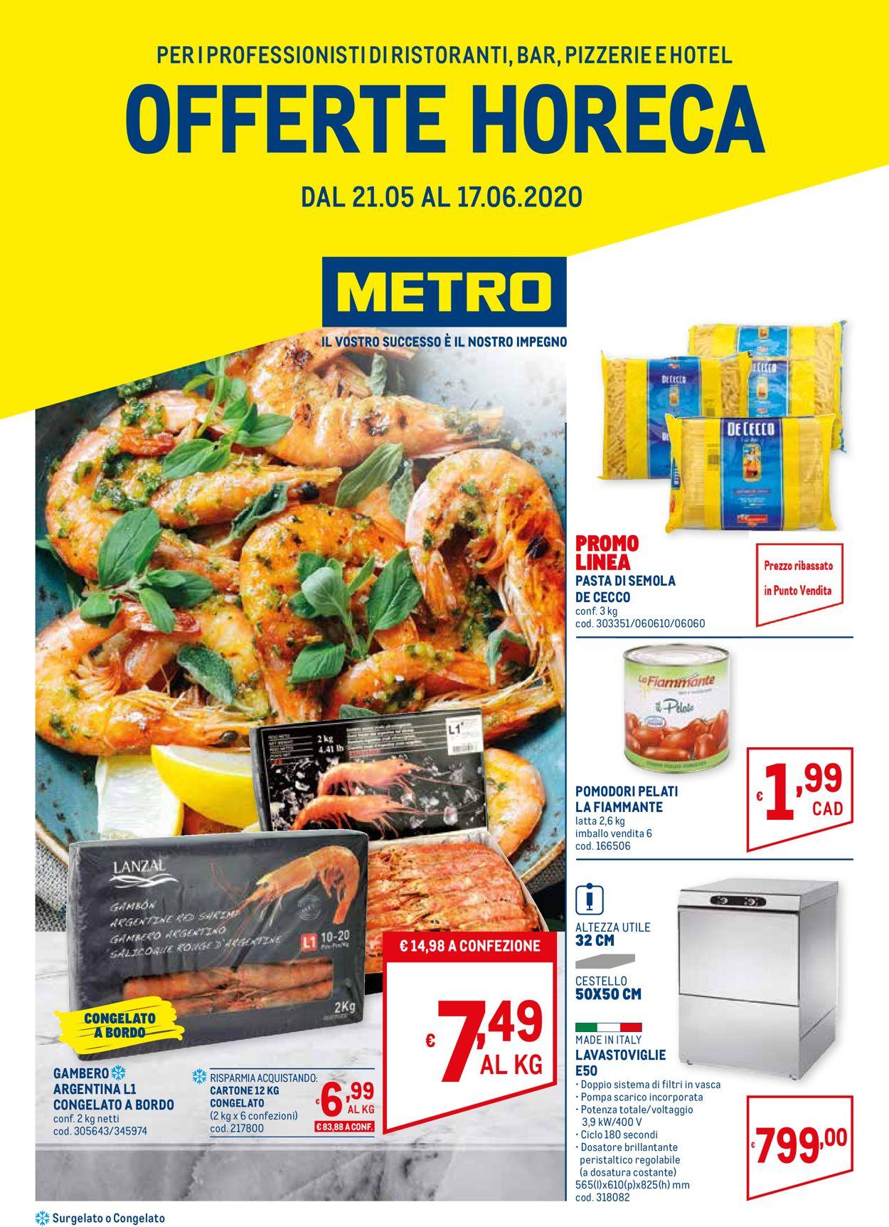 Volantino Metro - Offerte 21/05-17/06/2020