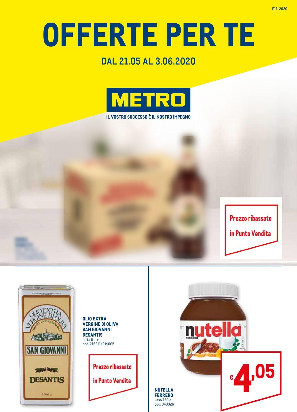 Volantino Metro - Offerte 21/05-03/06/2020