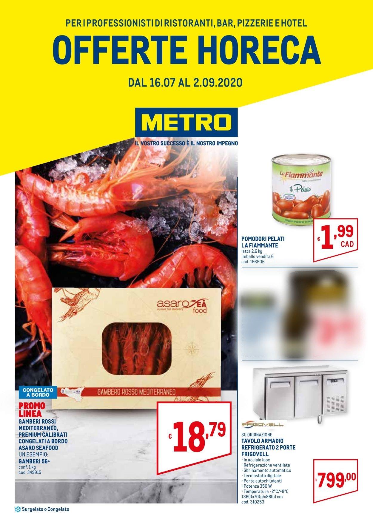 Volantino Metro - Offerte 16/07-02/09/2020