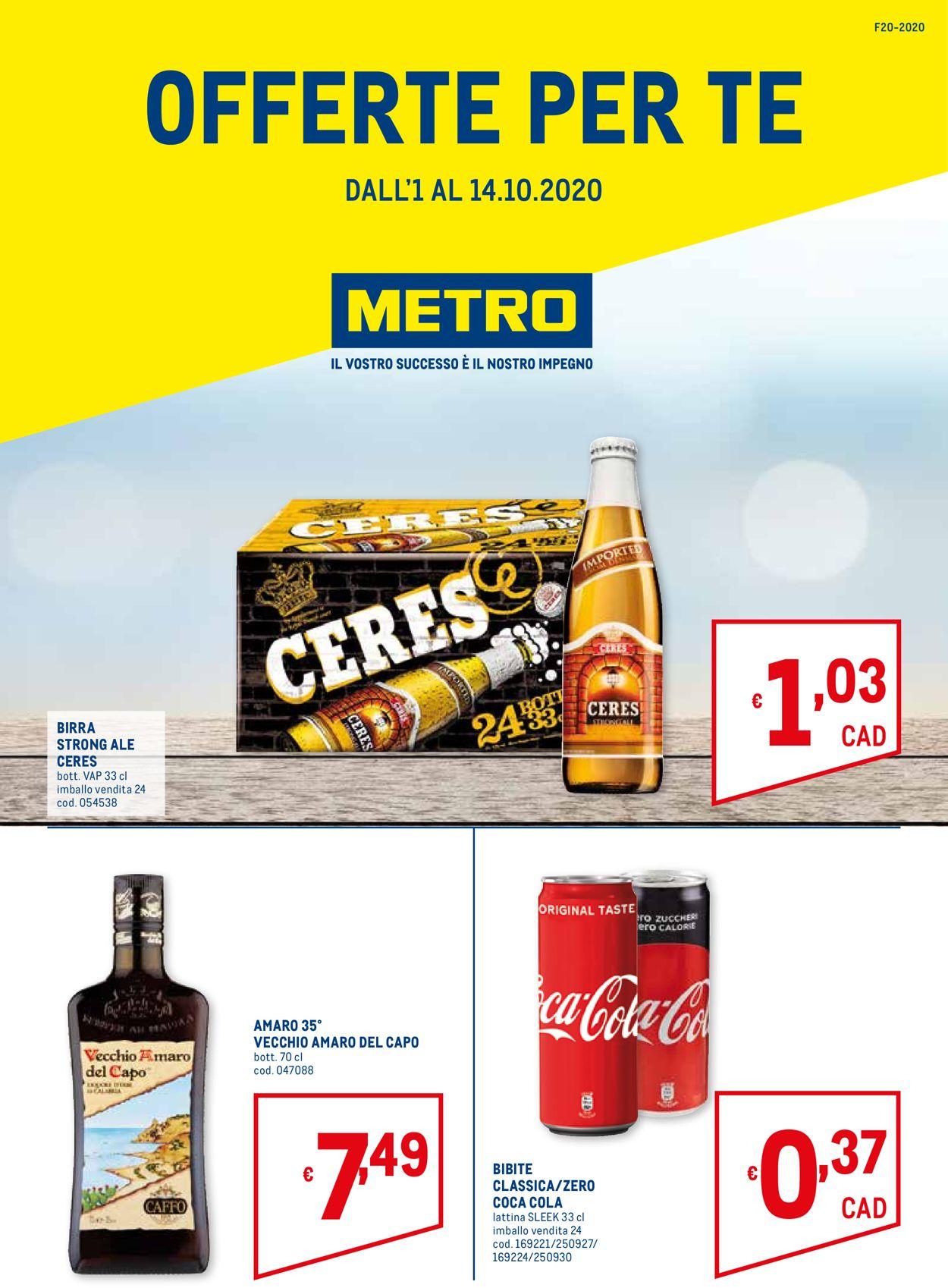 Volantino Metro - Offerte 01/10-14/10/2020