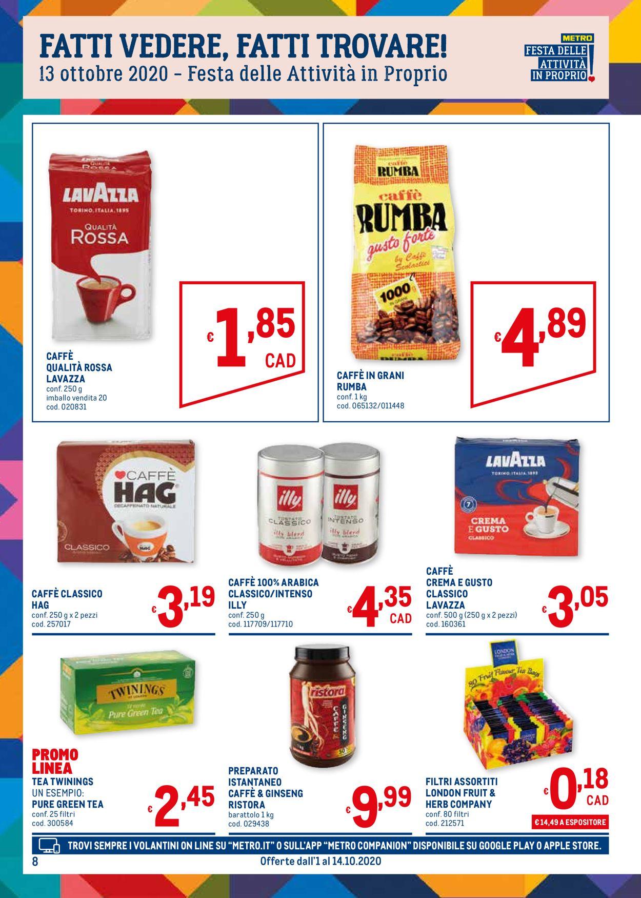 Volantino Metro - Offerte 01/10-14/10/2020 (Pagina 8)