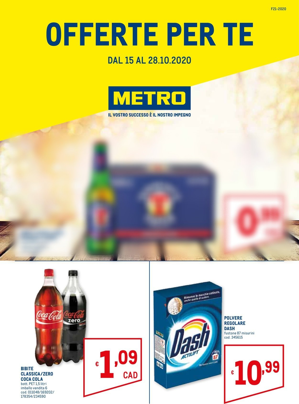 Volantino Metro - Offerte 15/10-28/10/2020