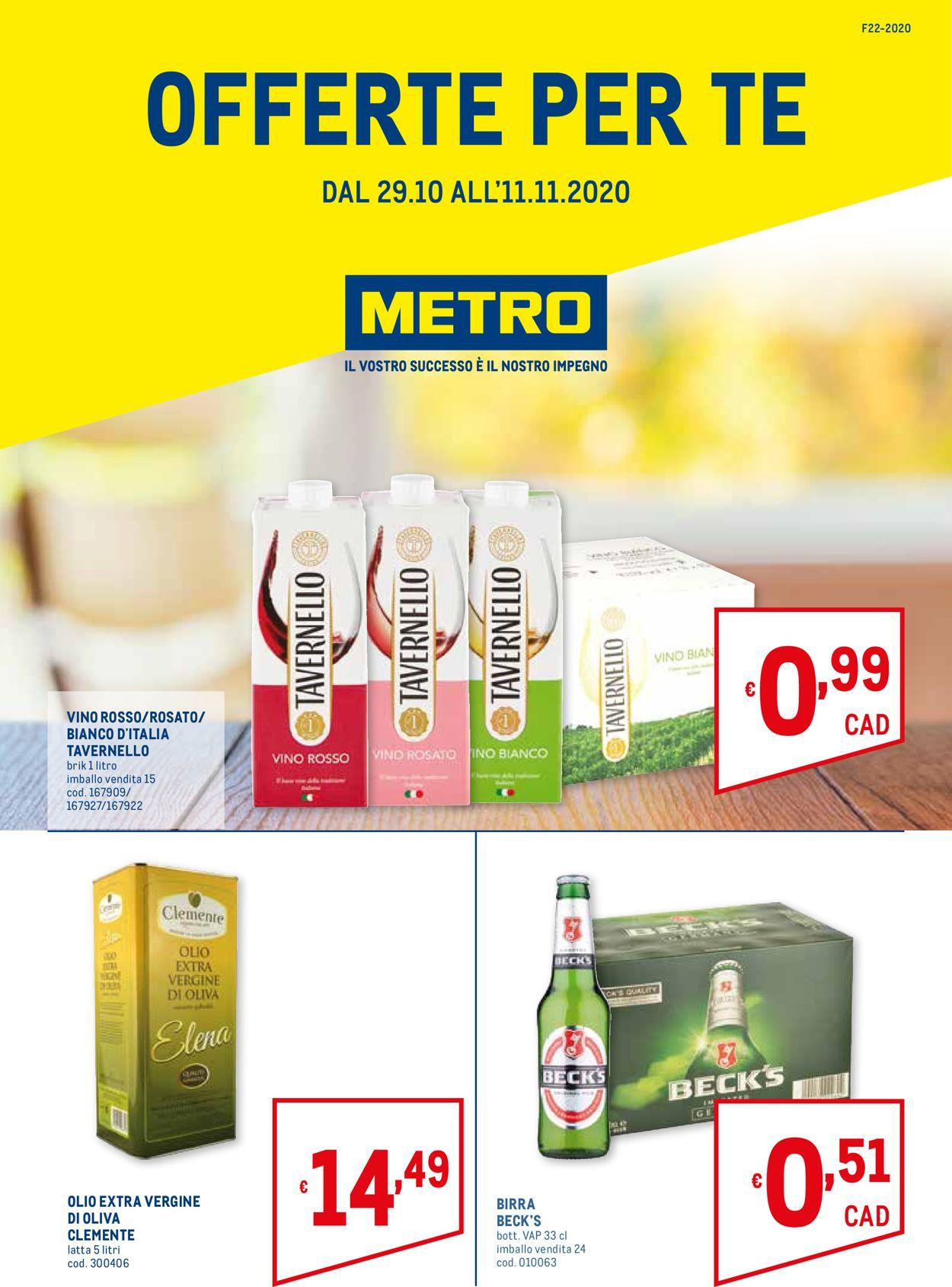 Volantino Metro - Offerte 29/10-11/11/2020