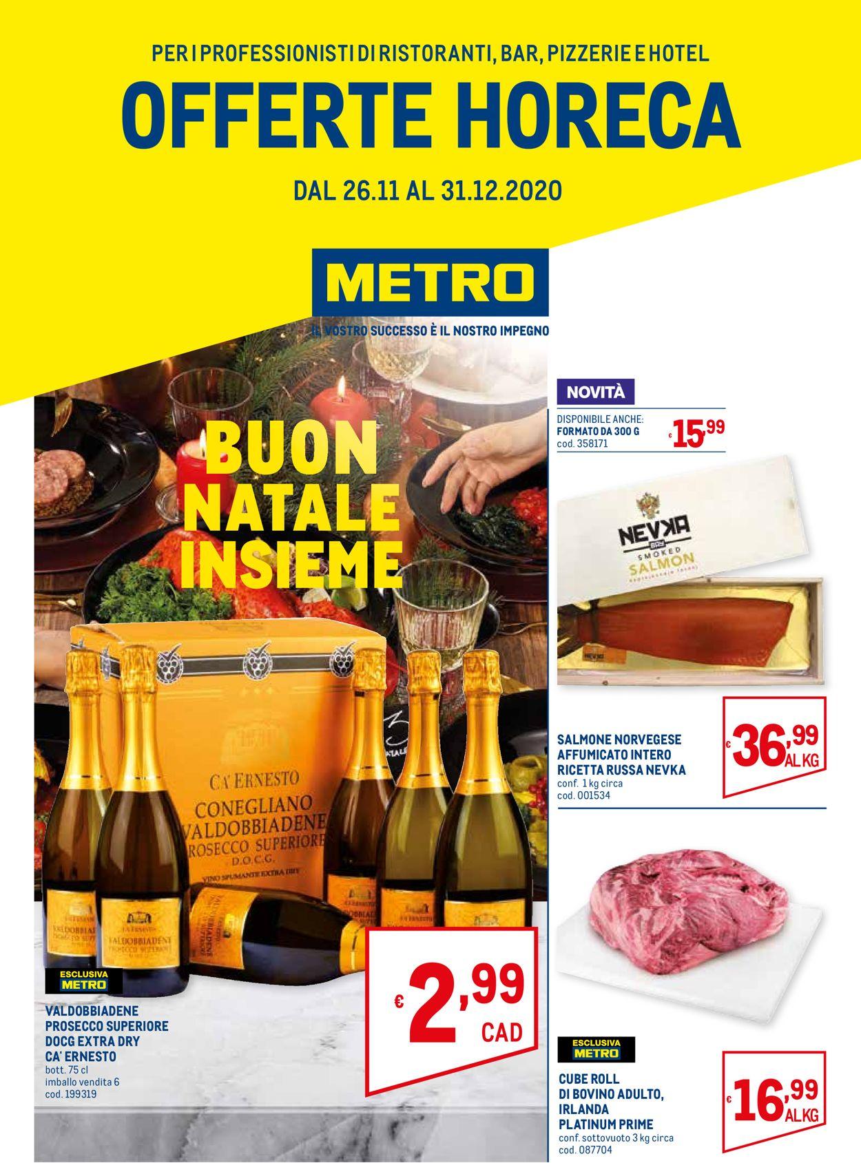 Volantino Metro - Natale 2020 - Offerte 26/11-31/12/2020