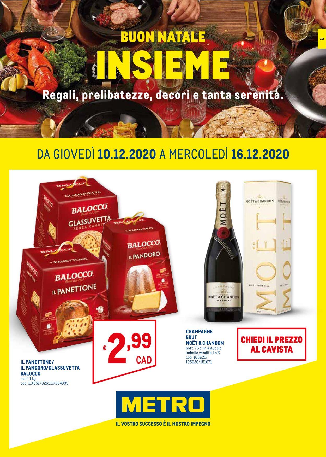 Volantino Metro - Natale 2020 - Offerte 10/12-16/12/2020